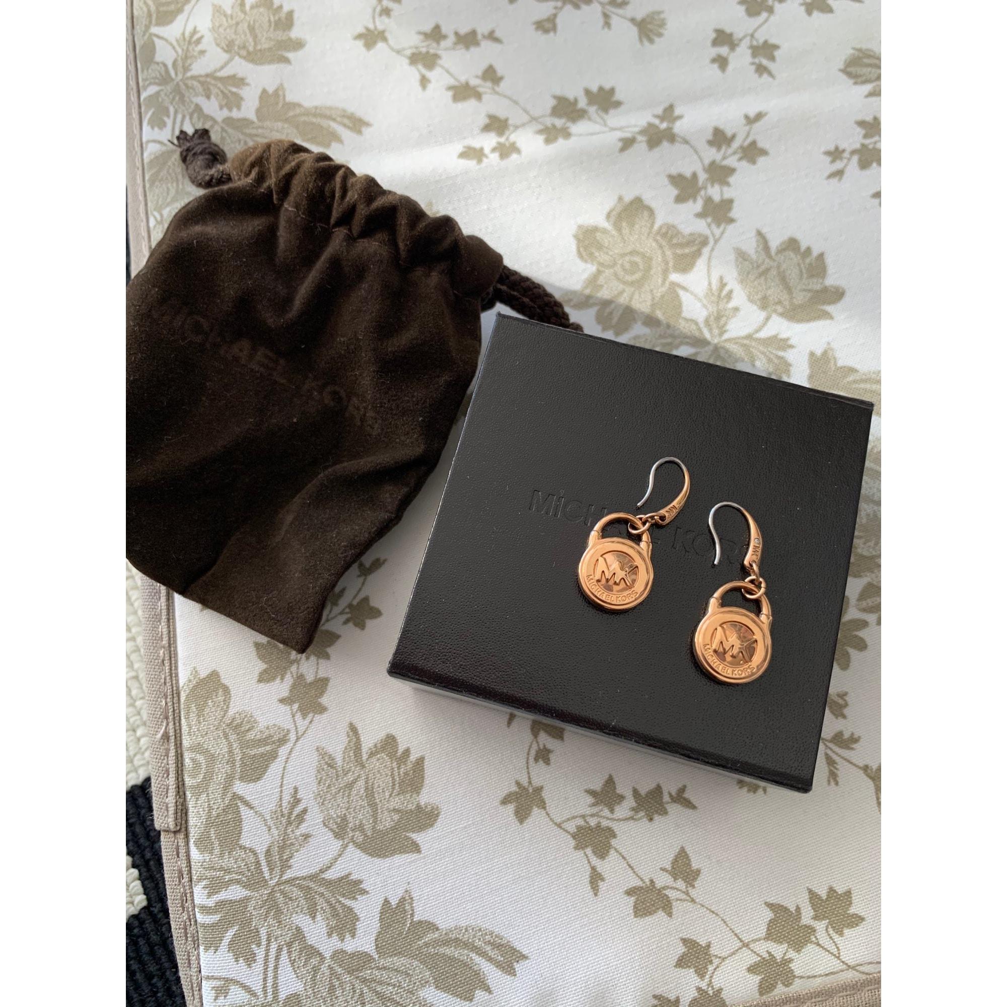 Boucles d'oreille MICHAEL KORS Rose, fuschia, vieux rose