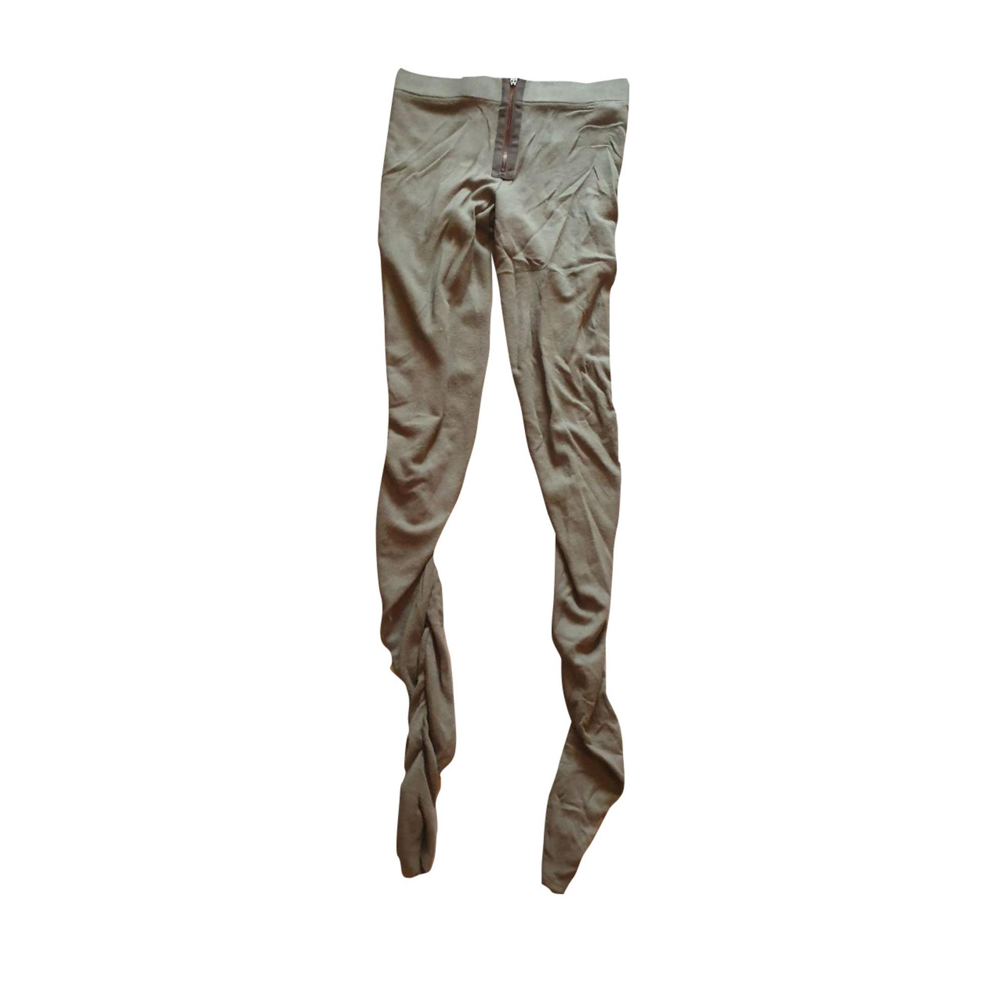 Pantalon slim, cigarette ACNE Kaki