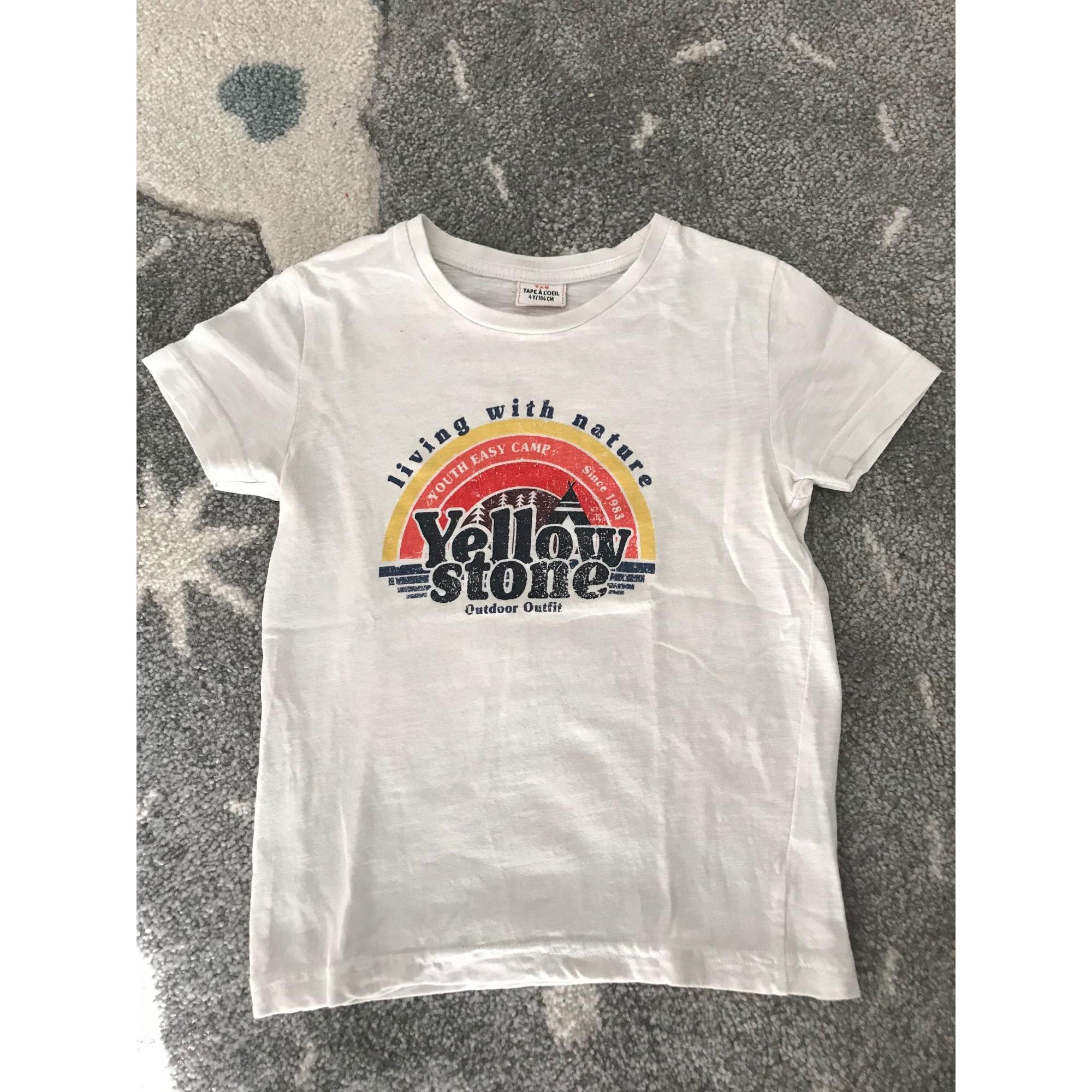 Tee-shirt TAPE À L'OEIL Blanc, blanc cassé, écru