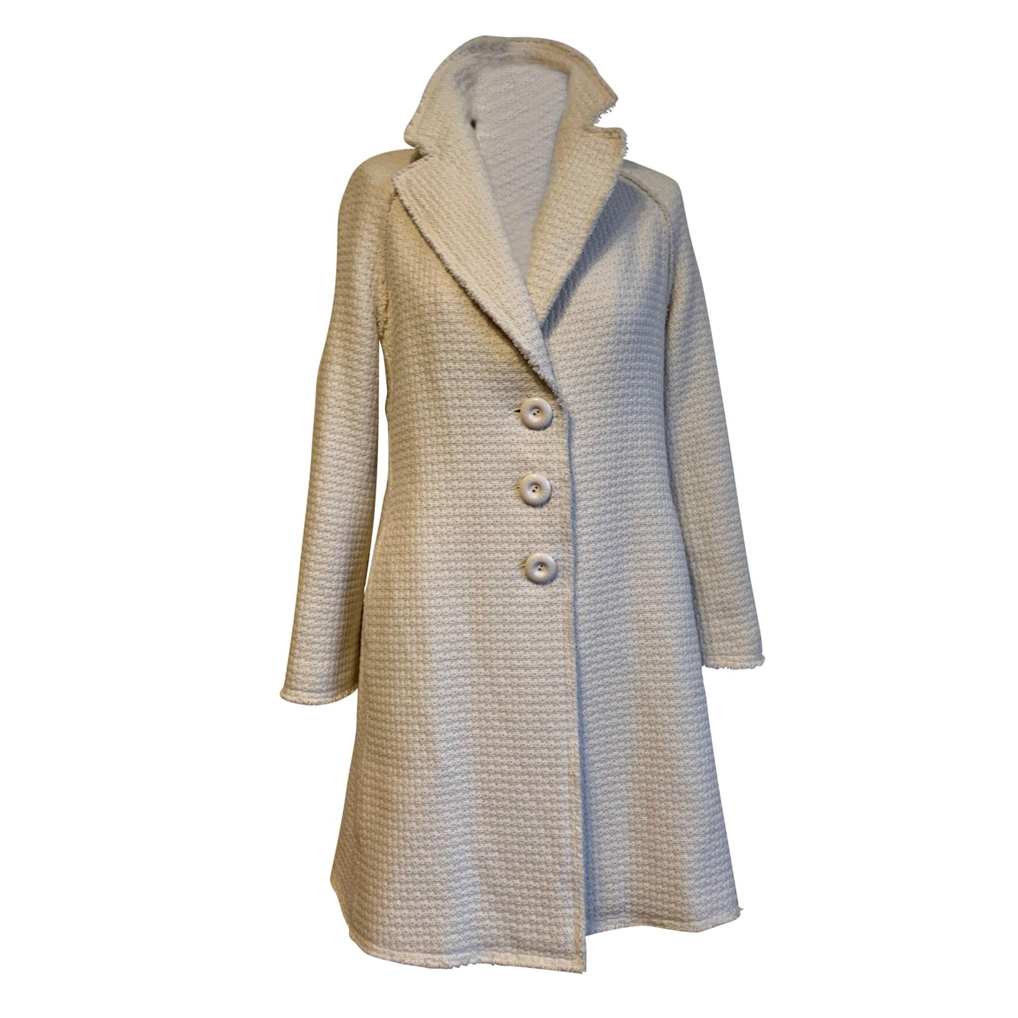 Manteau MOSCHINO Blanc, blanc cassé, écru