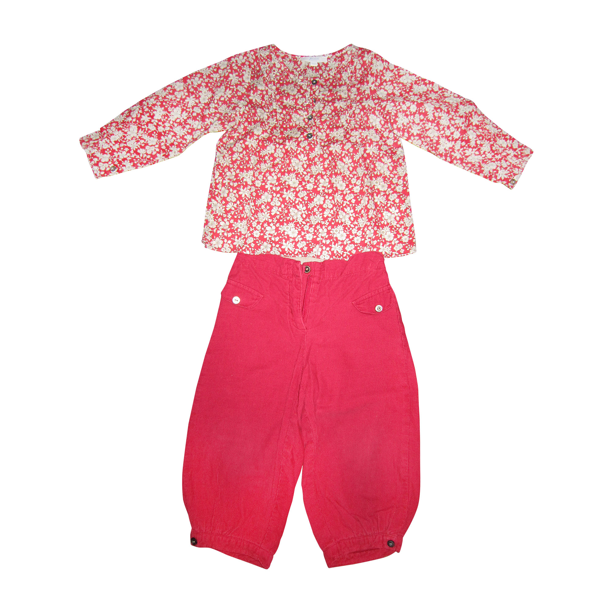 Ensemble & Combinaison pantalon JACADI Rouge, bordeaux
