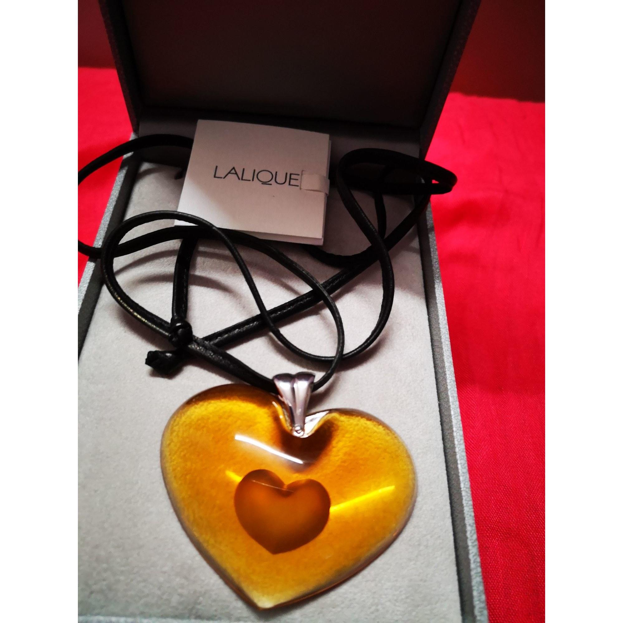 Pendentif, collier pendentif LALIQUE Orange
