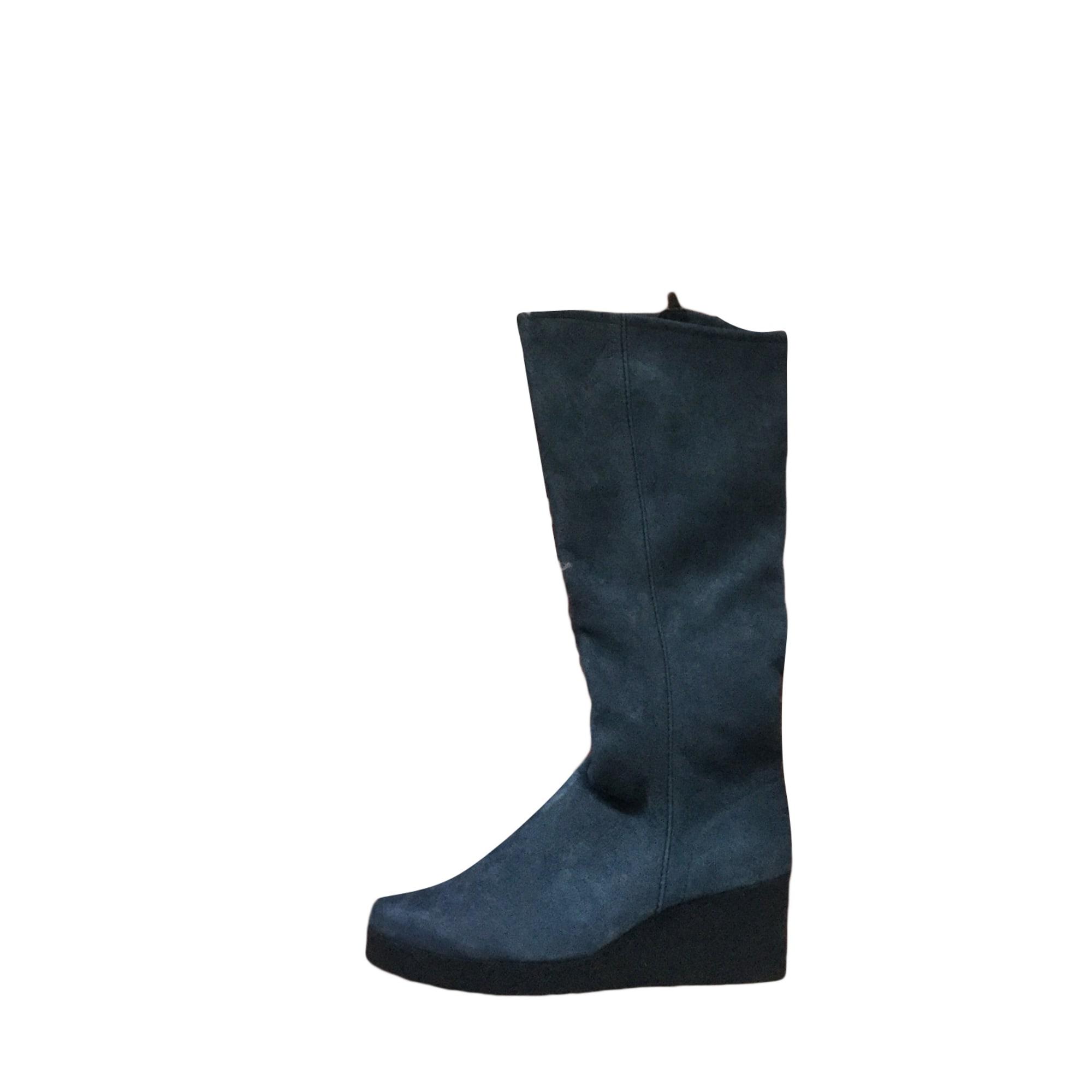 Bottes à compensés ARCHE Bleu, bleu marine, bleu turquoise