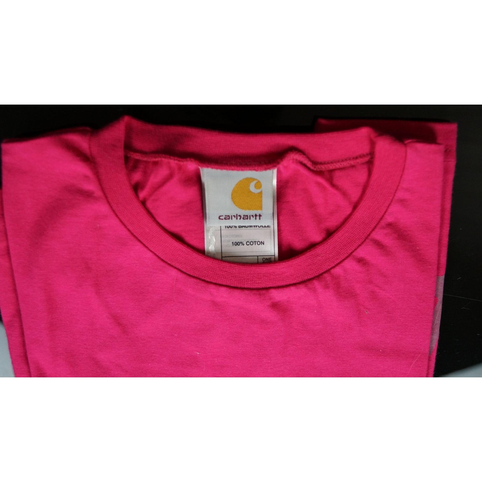 Tee-shirt CARHARTT Rose, fuschia, vieux rose