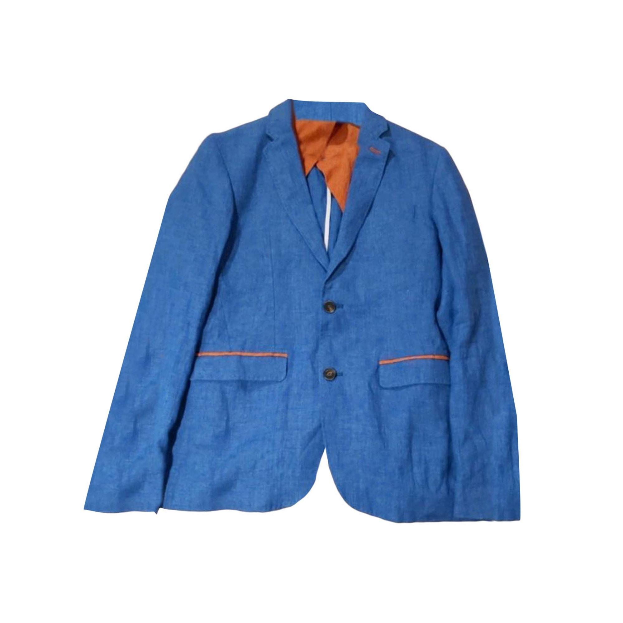 Veste SERGE BLANCO Bleu, bleu marine, bleu turquoise
