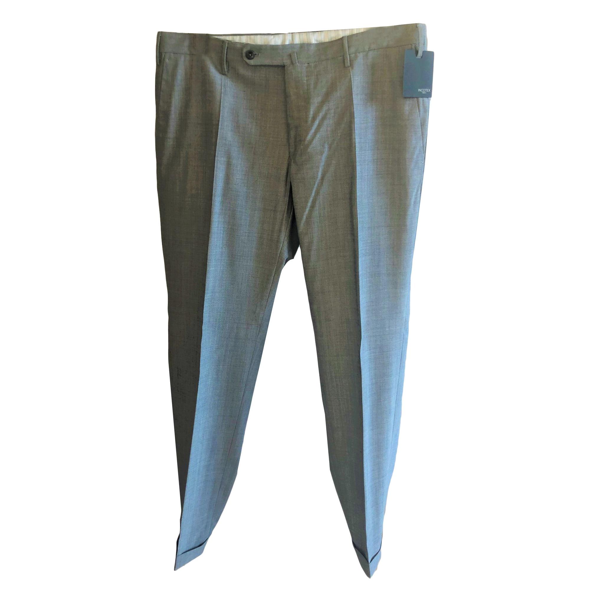 Pantalon slim INCOTEX Gris, anthracite