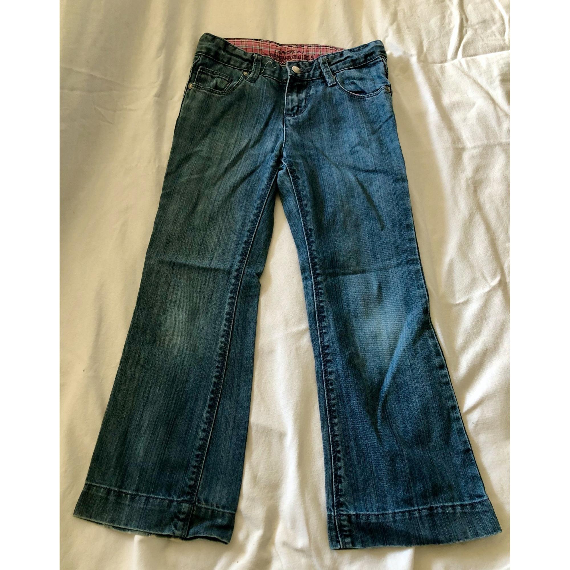 Jeans très evasé, pattes d'éléphant CFK Bleu, bleu marine, bleu turquoise