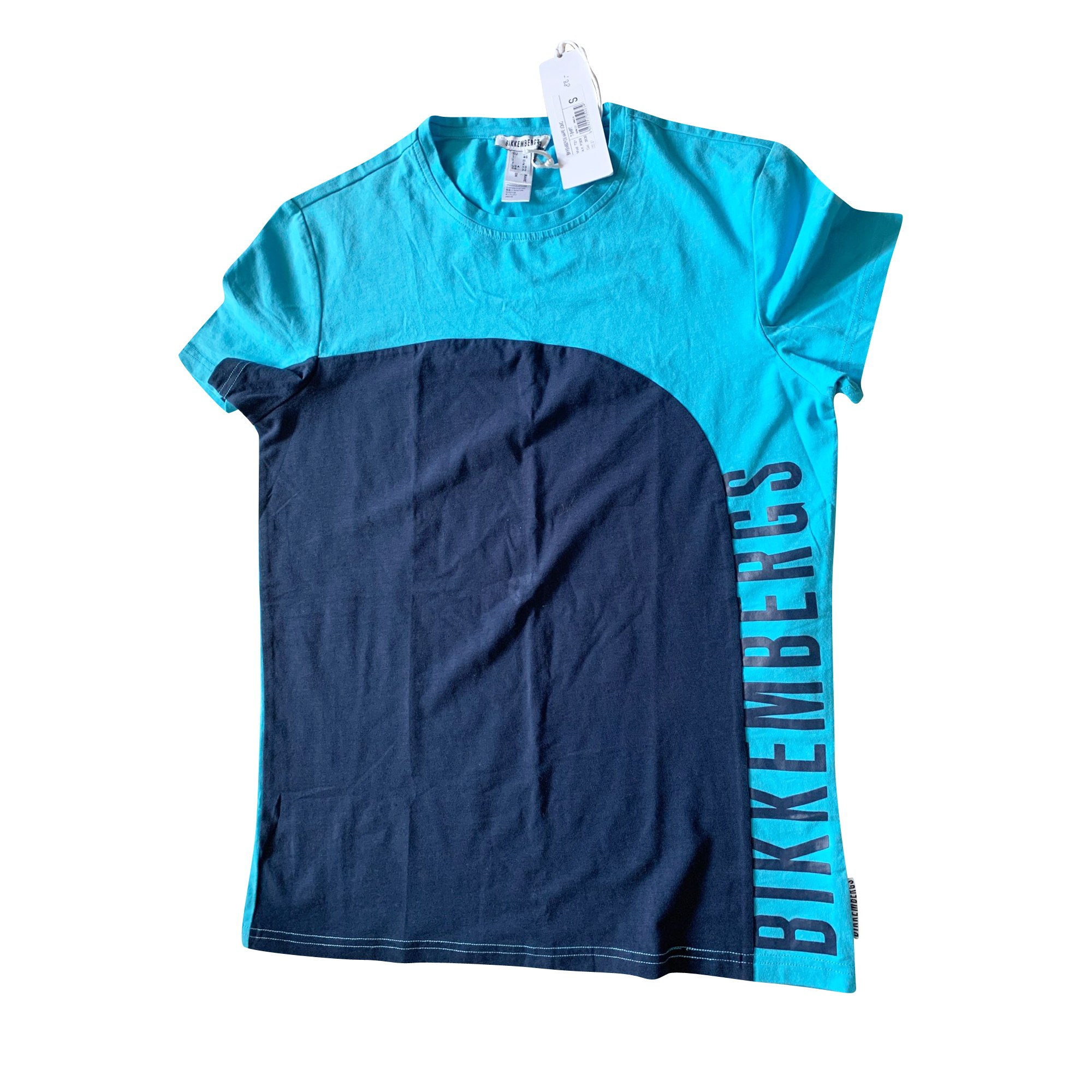 Tee-shirt DIRK BIKKEMBERGS Bleu, bleu marine, bleu turquoise