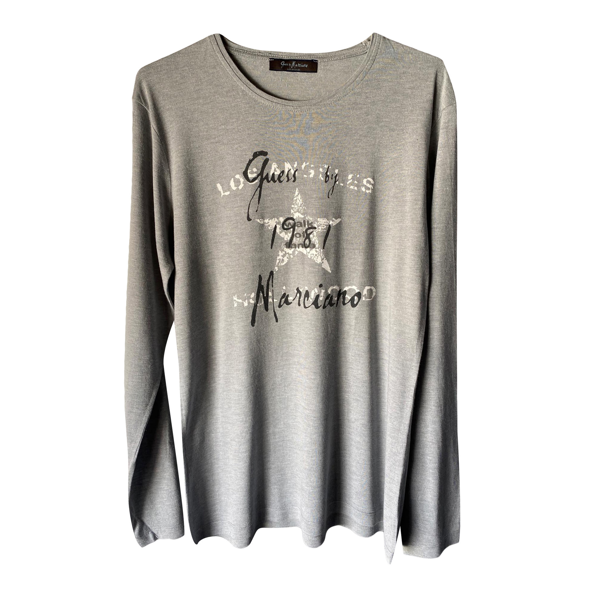 Tee-shirt GUESS Gris, anthracite
