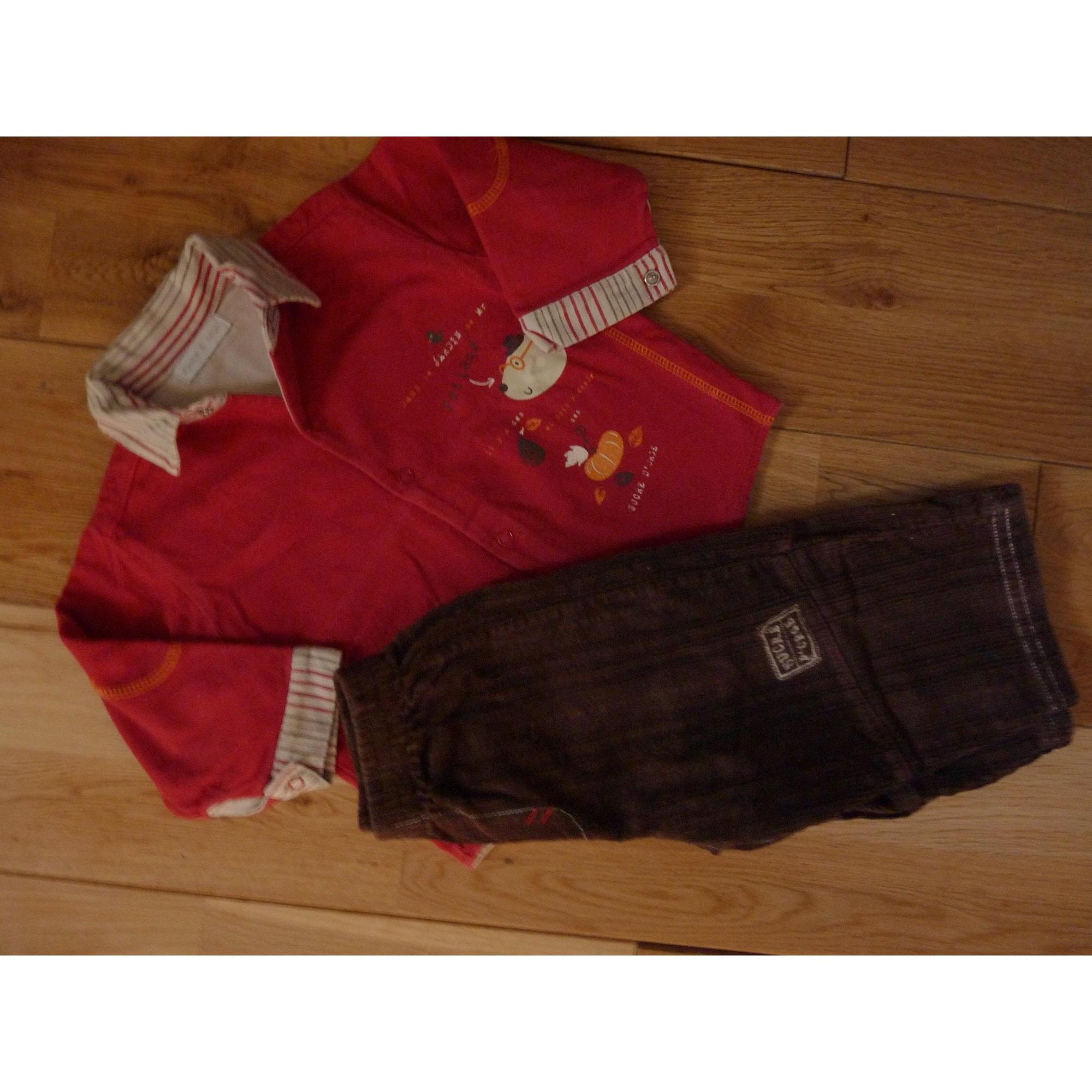Ensemble & Combinaison pantalon SUCRE D'ORGE Rouge, bordeaux