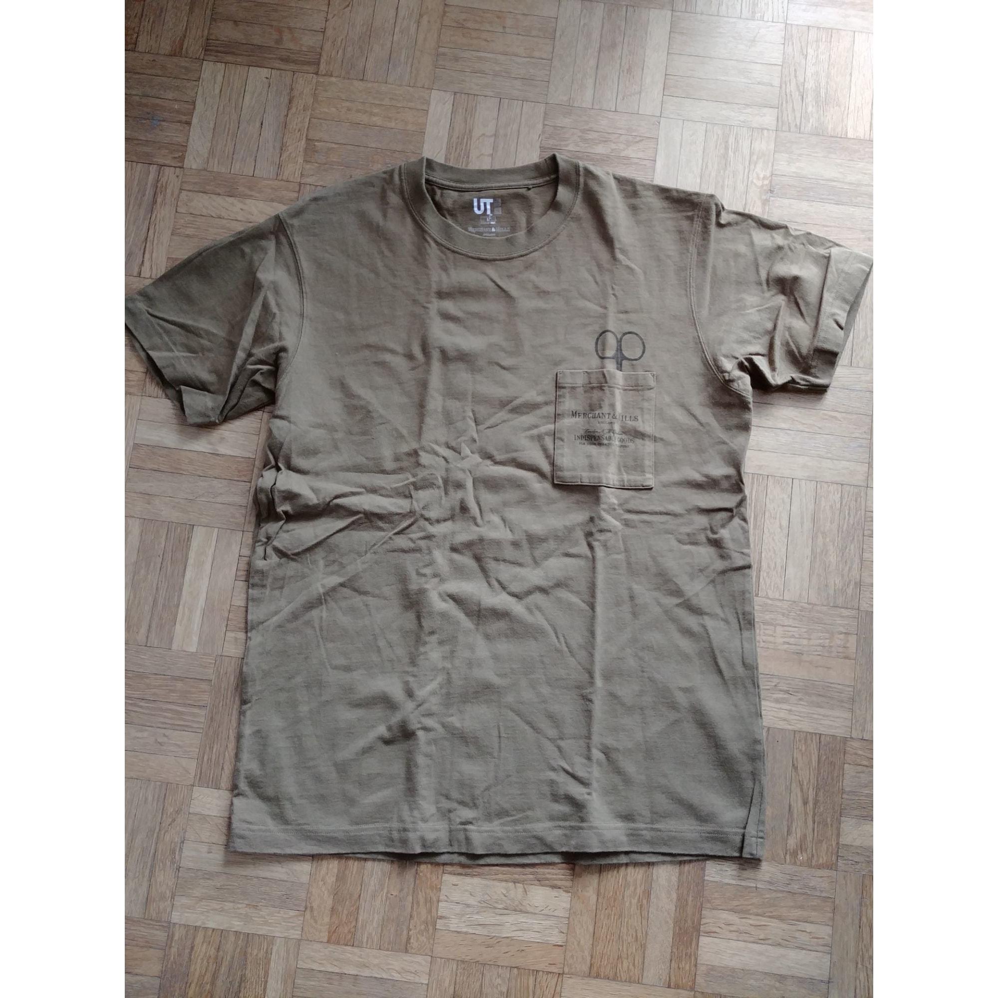 Tee-shirt UNIQLO Kaki