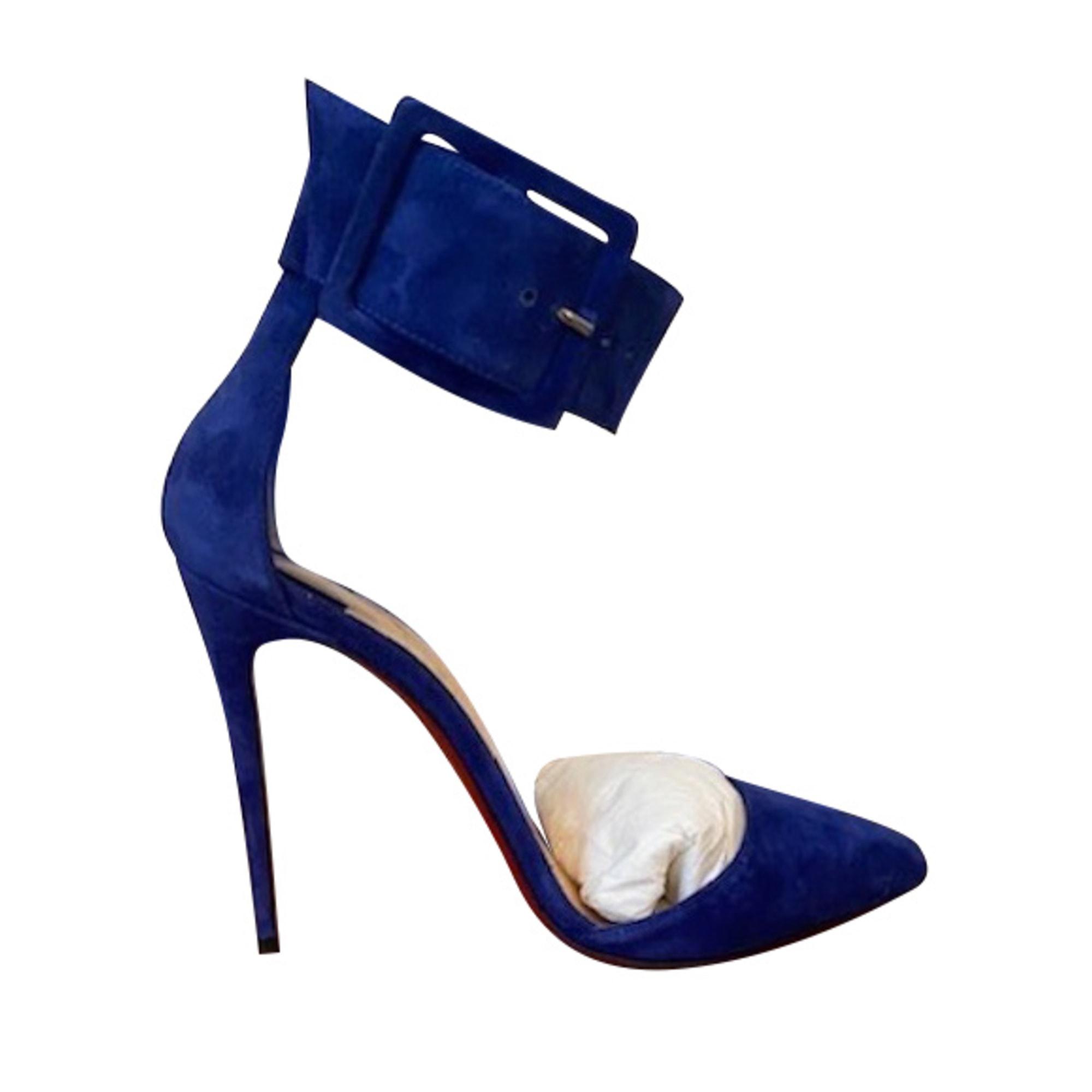 escarpins louboutin bleu marine