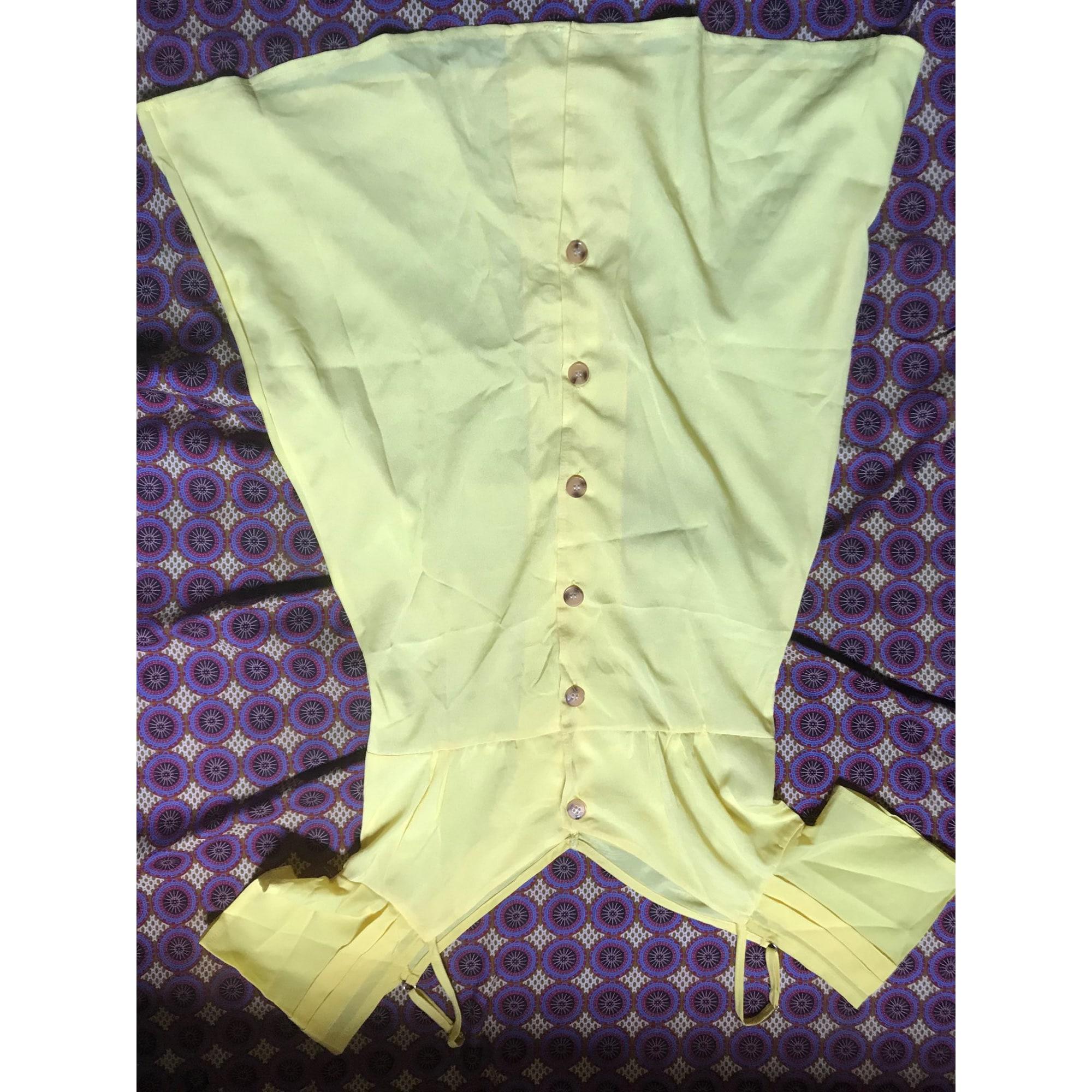 Robe courte MARQUE INCONNUE Jaune