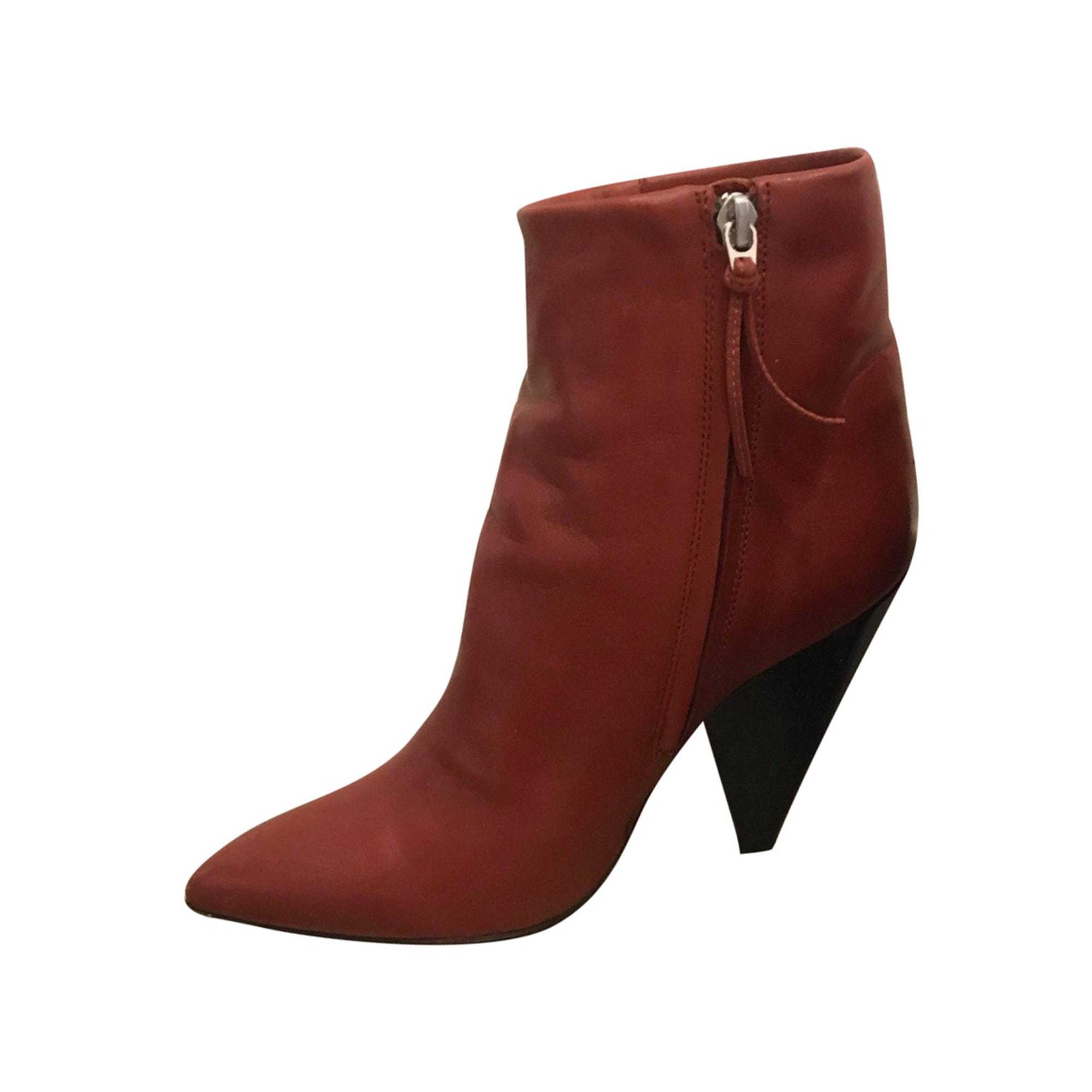 Bottines & low boots à talons ISABEL MARANT Rouge, bordeaux