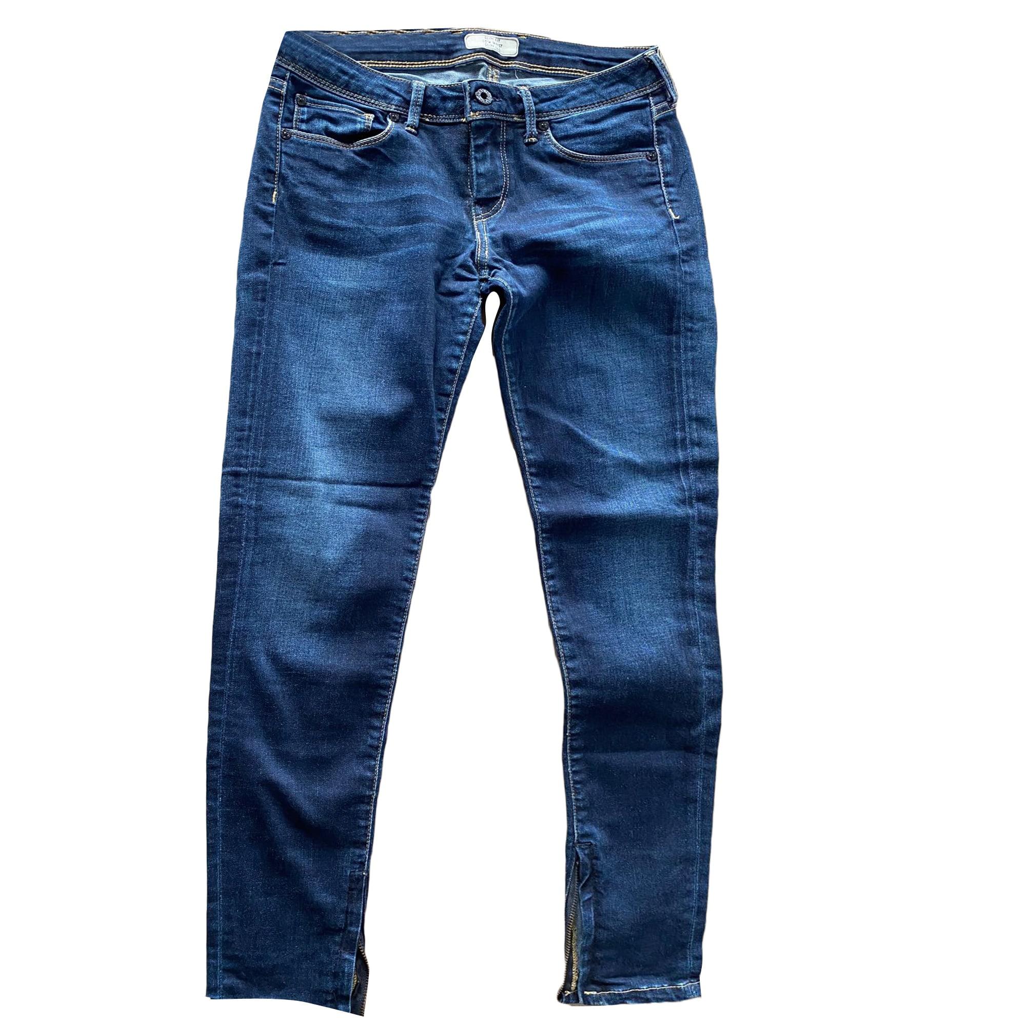Jeans slim PEPE JEANS Bleu, bleu marine, bleu turquoise