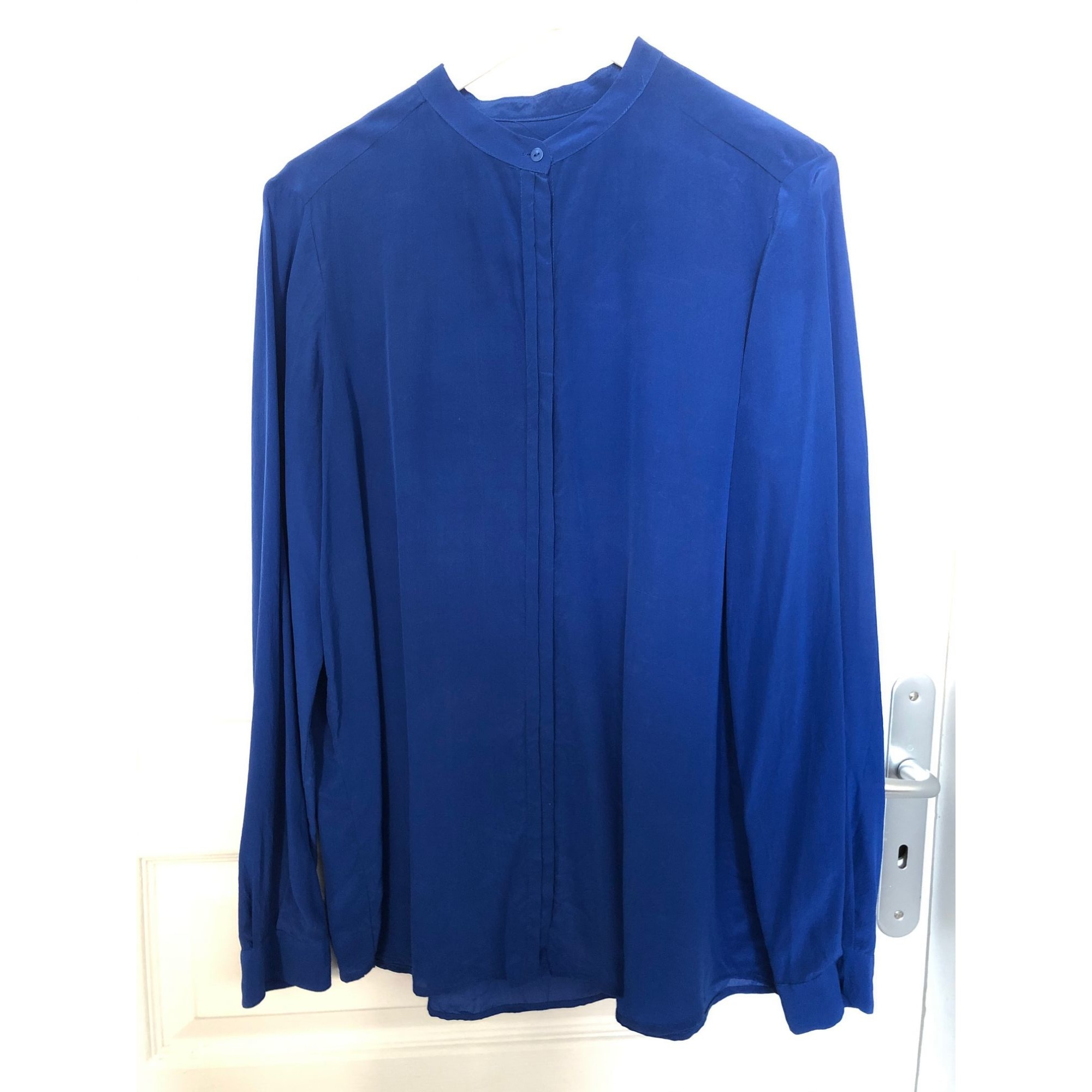 Chemise MANGO Bleu, bleu marine, bleu turquoise