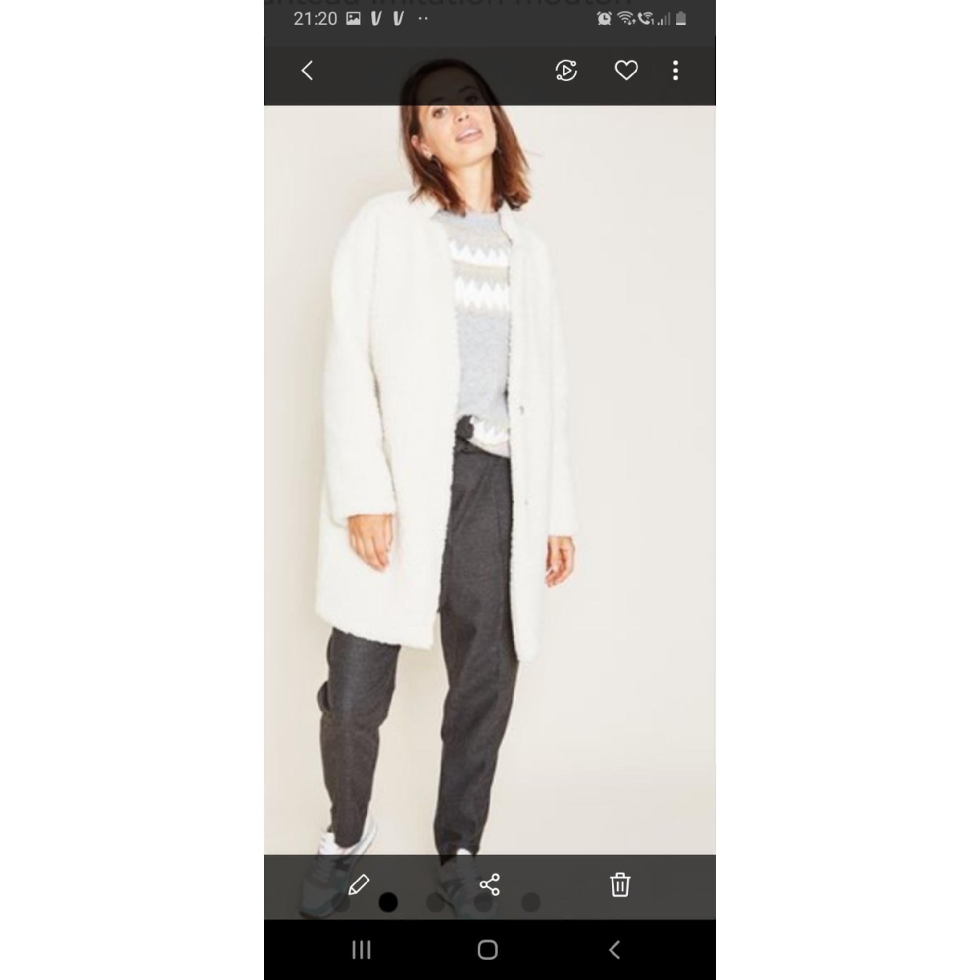 Manteau PROMOD Blanc, blanc cassé, écru