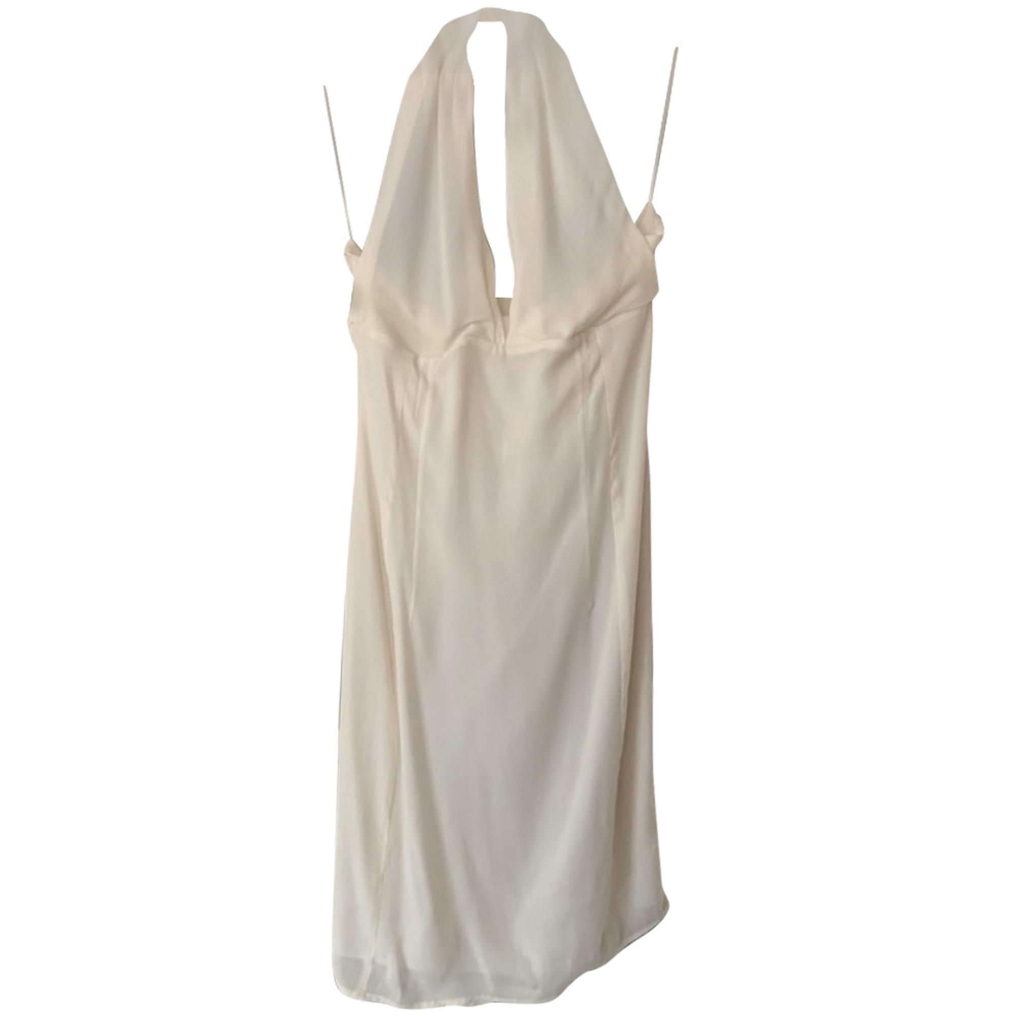 Robe dos nu GIANFRANCO FERRE Blanc, blanc cassé, écru