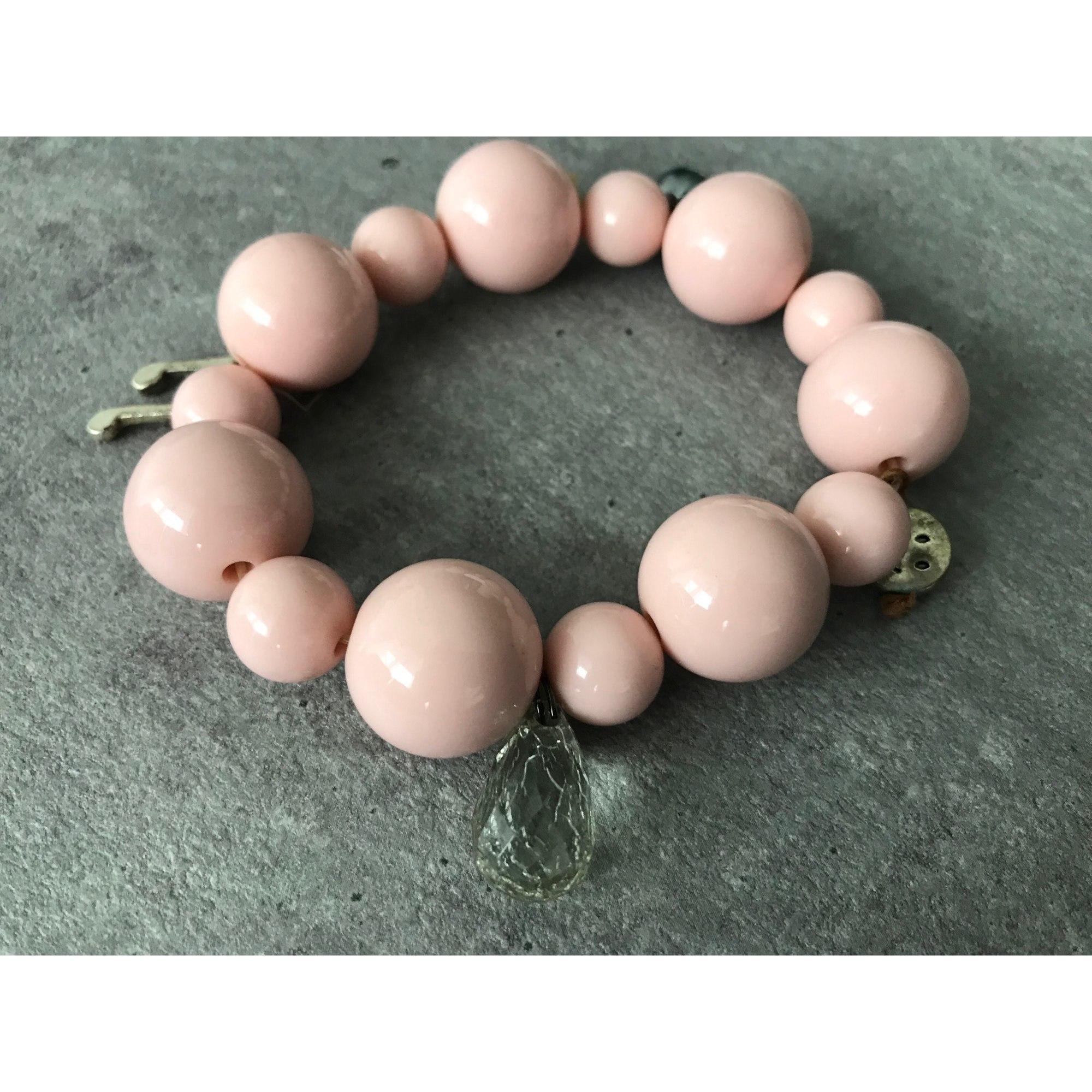 Bracelet H&M Rose, fuschia, vieux rose