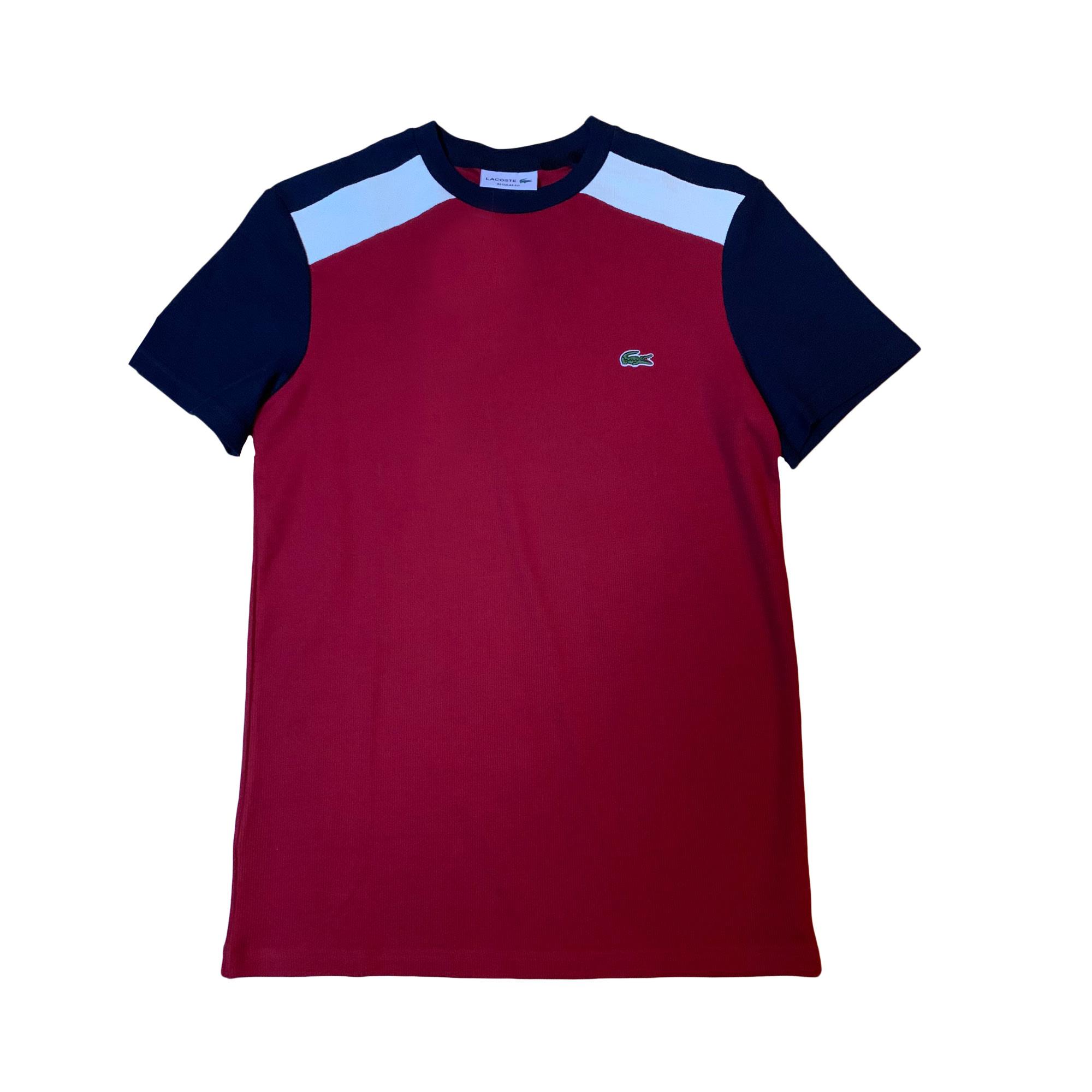 Tee-shirt LACOSTE Rouge, bordeaux