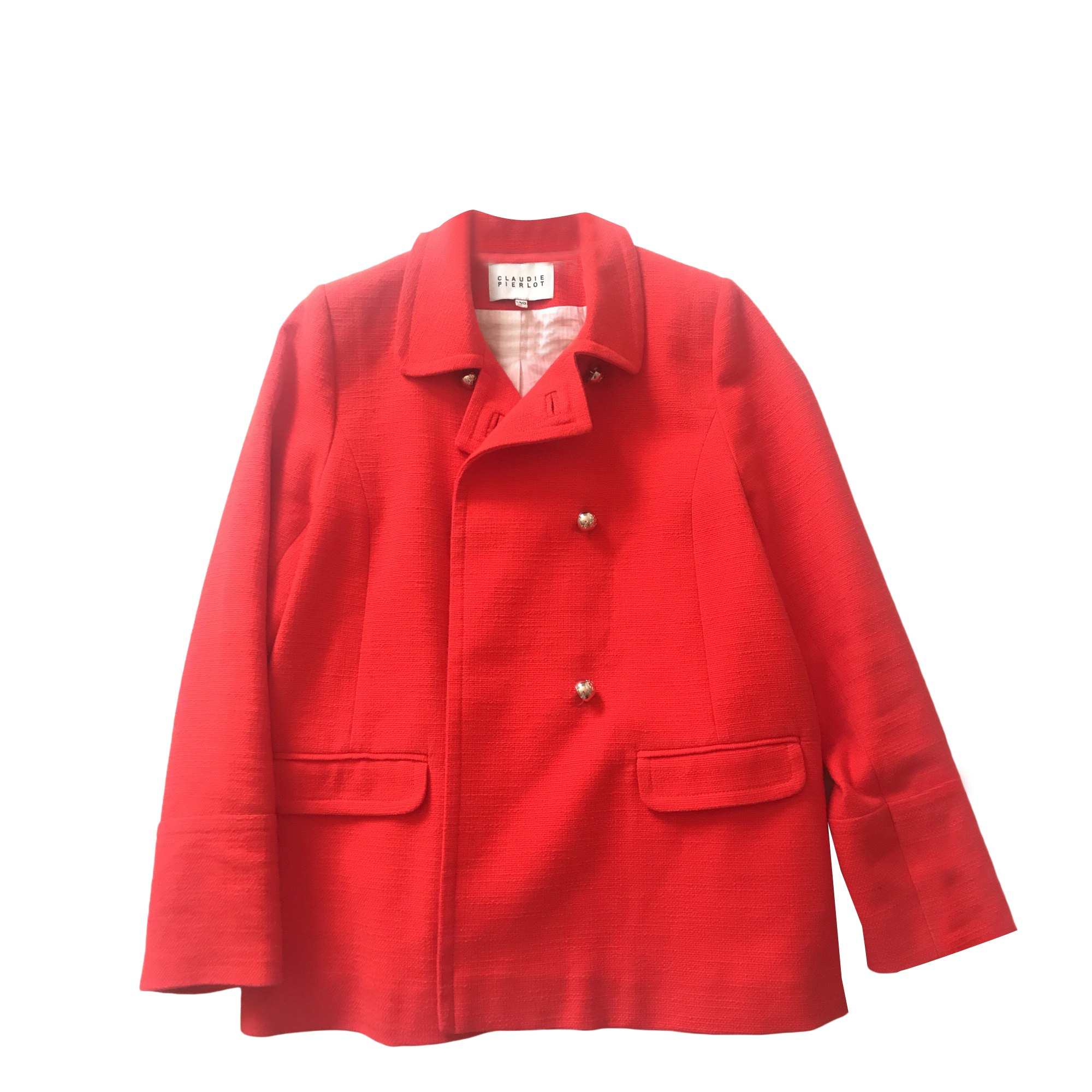 Caban CLAUDIE PIERLOT Rouge, bordeaux