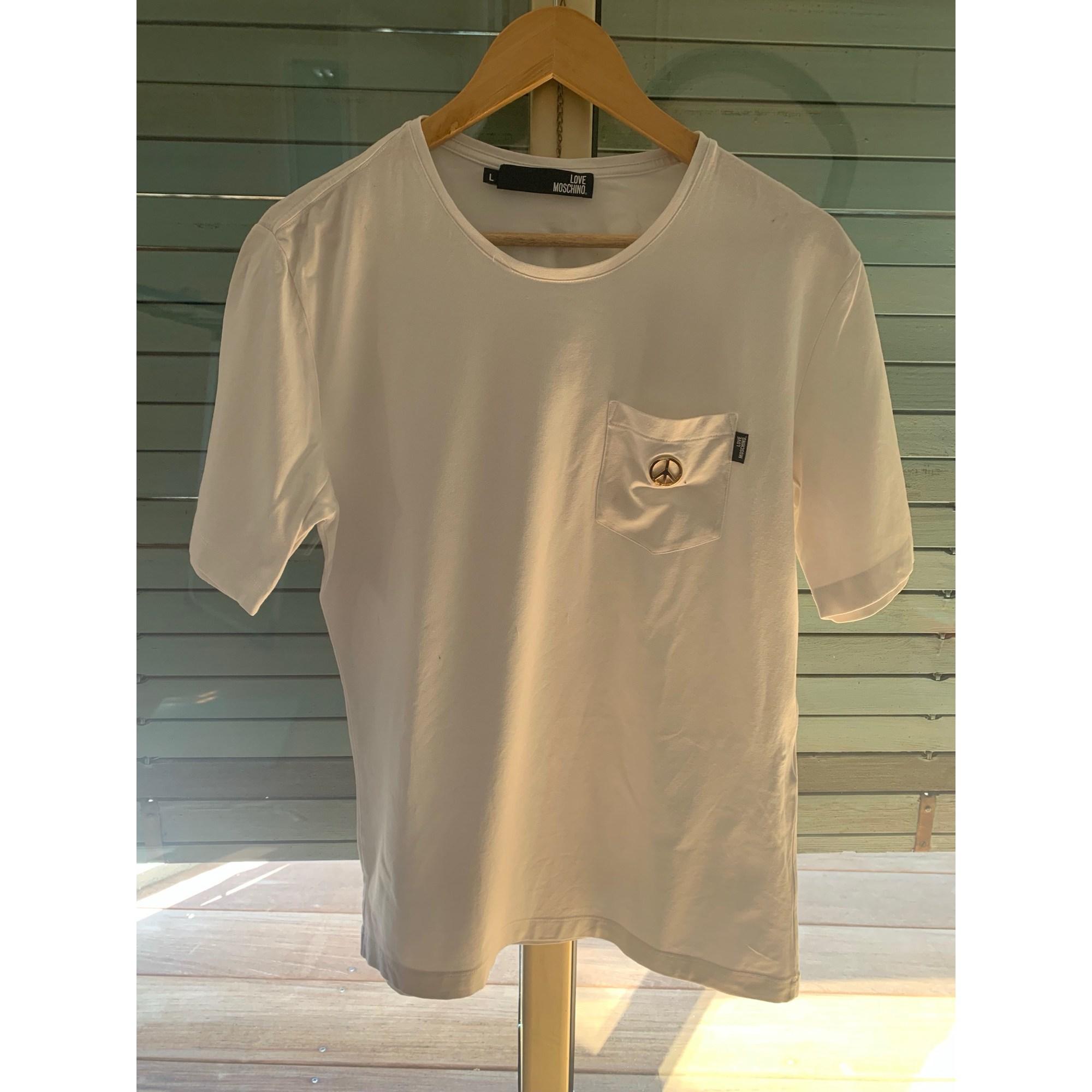 Tee-shirt LOVE MOSCHINO Blanc, blanc cassé, écru
