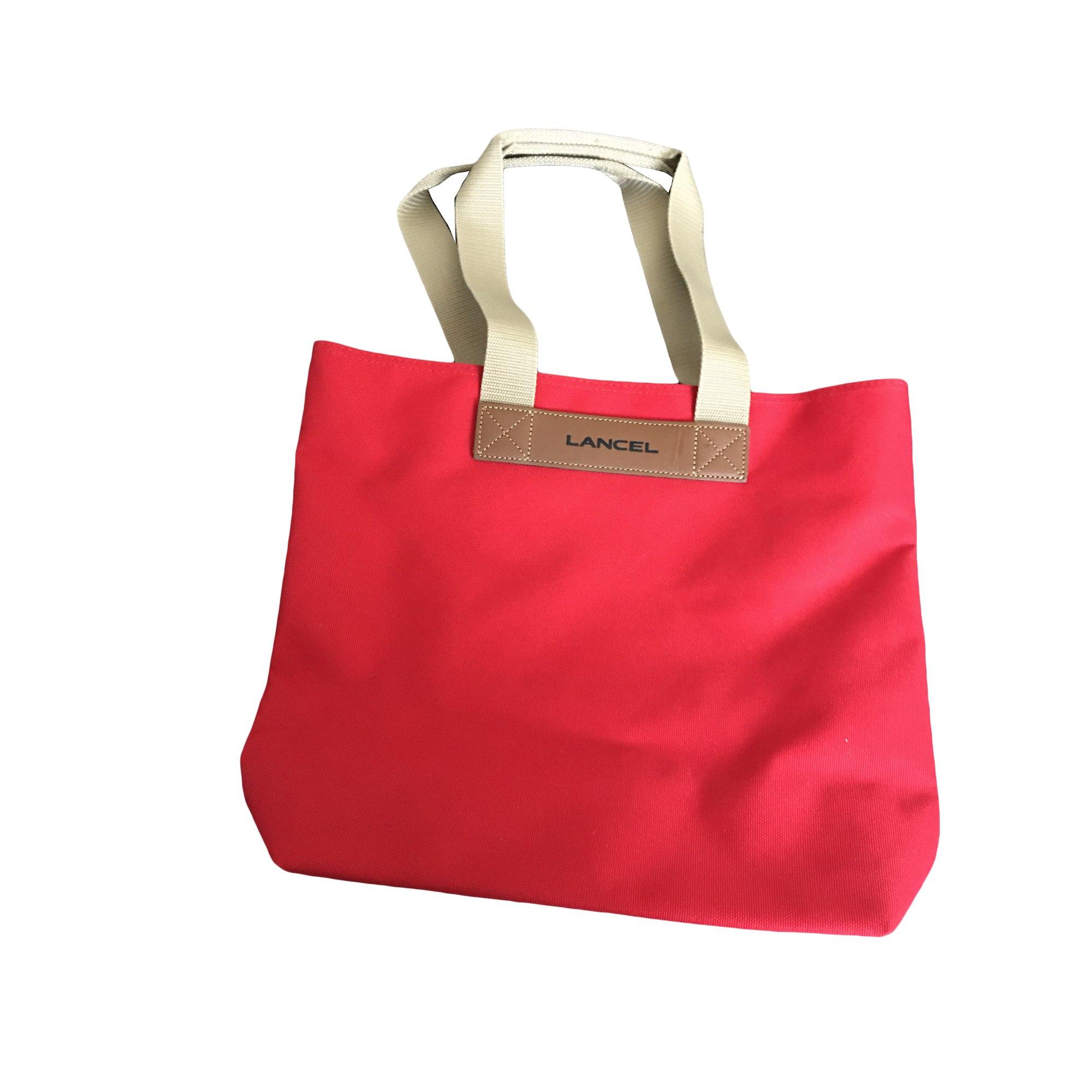 Sac XL en tissu LANCEL Rouge, bordeaux