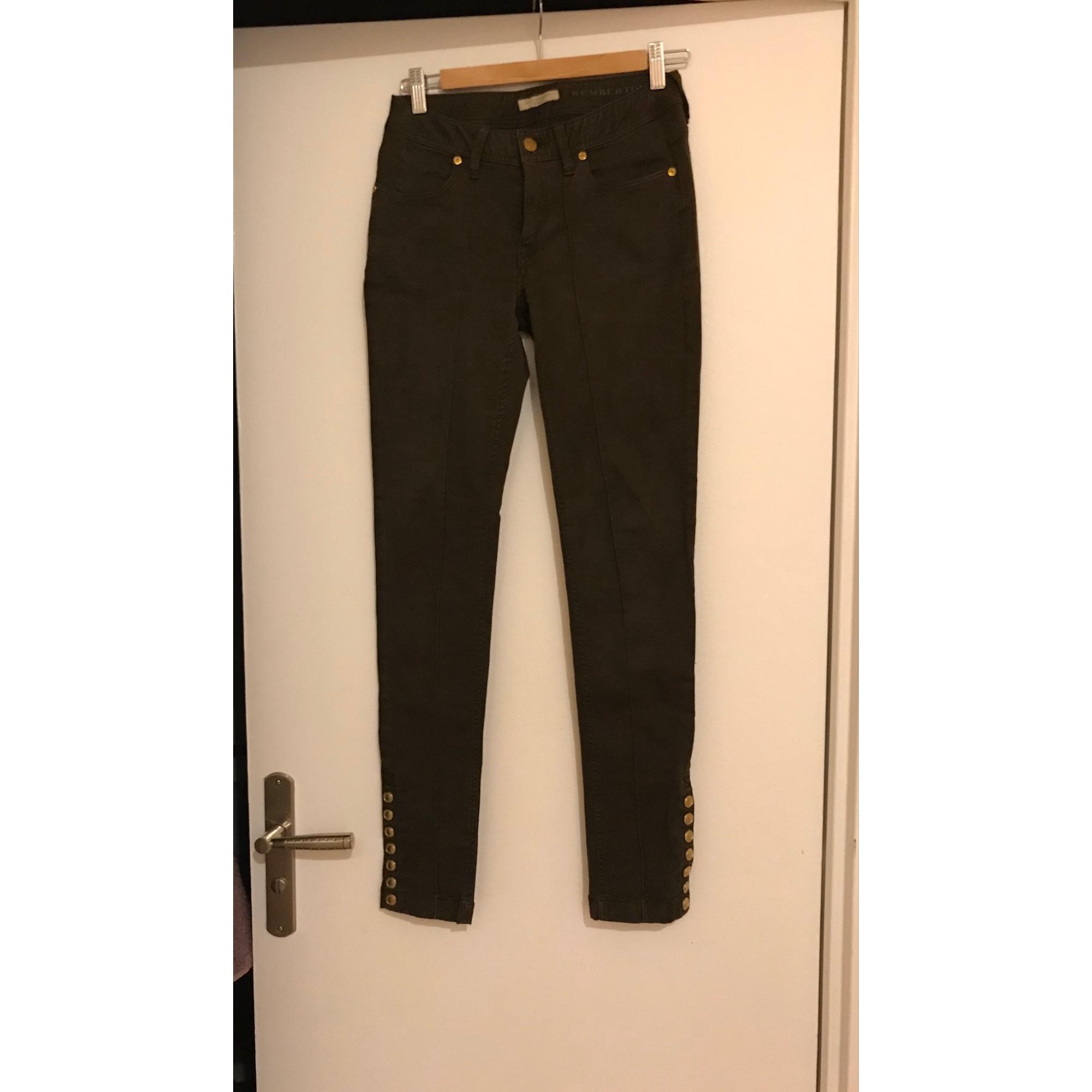 Pantalon slim, cigarette BURBERRY Kaki