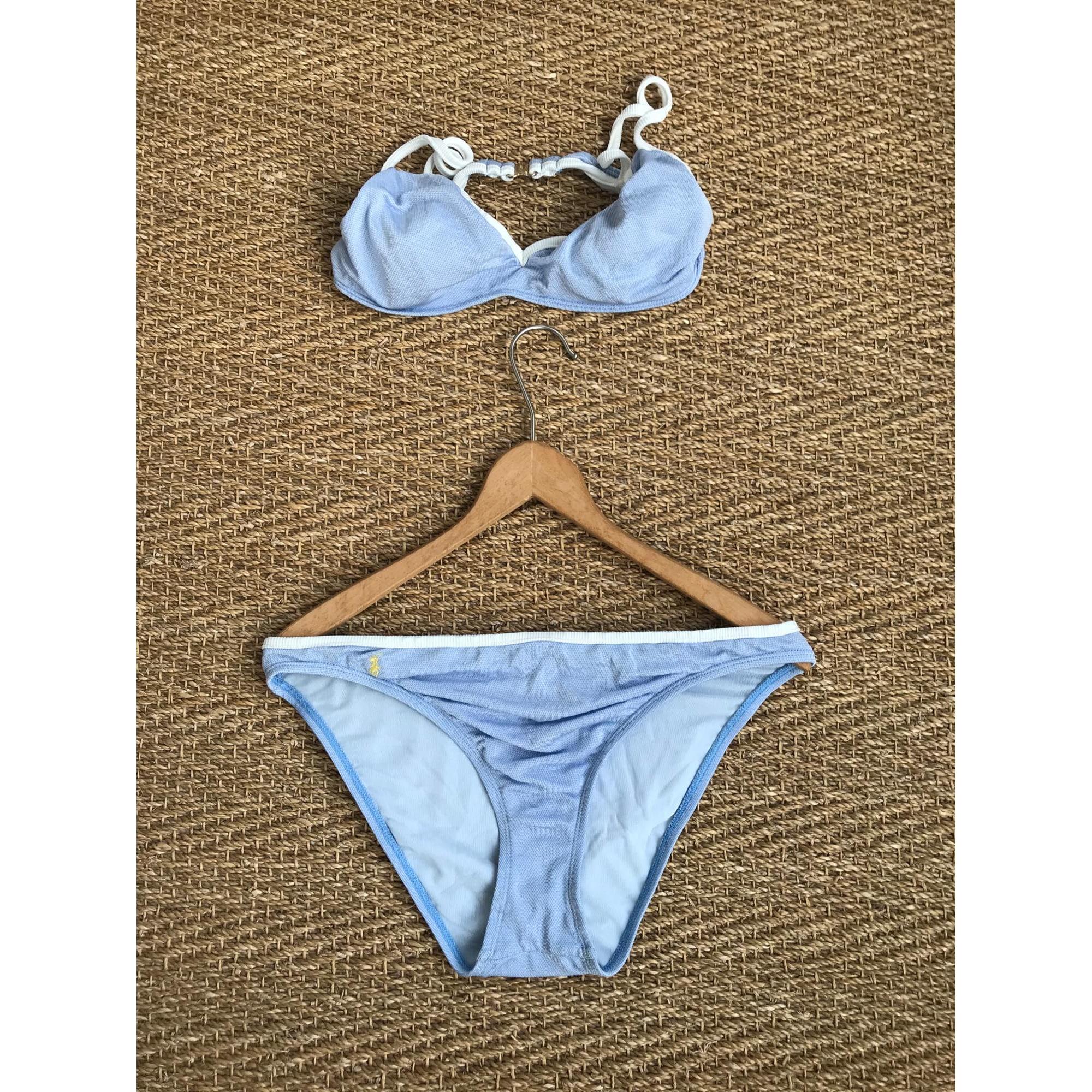 Maillot de bain deux-pièces RALPH LAUREN Bleu, bleu marine, bleu turquoise