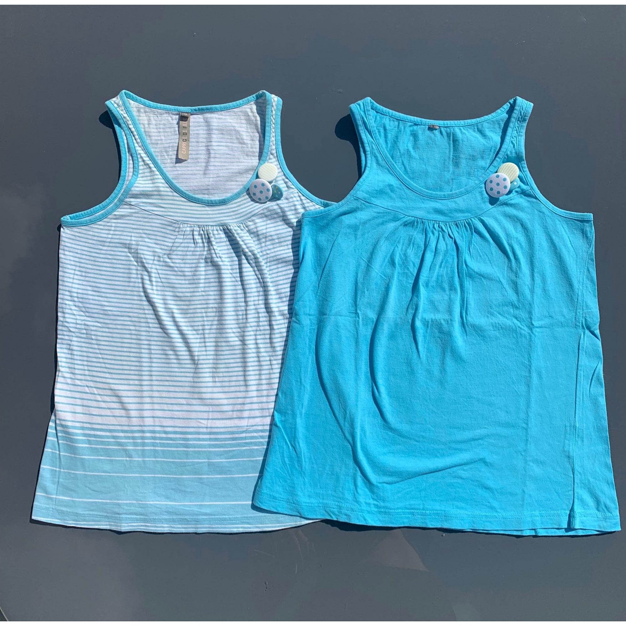Top, Tee-shirt CAPRICE DE FILLE Bleu, bleu marine, bleu turquoise