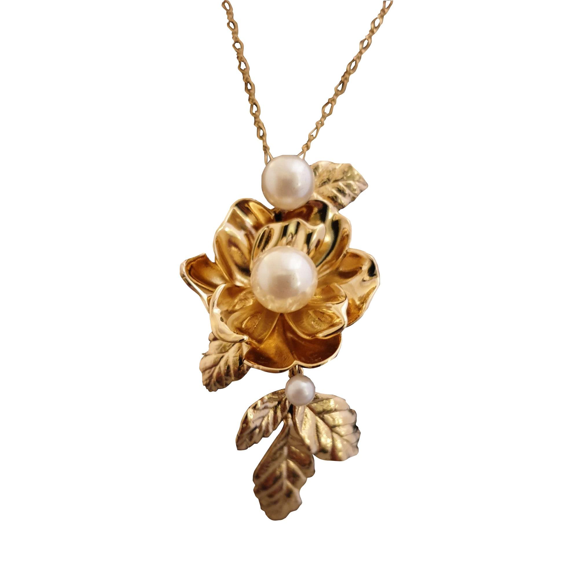 Pendentif, collier pendentif KATE SPADE métal doré