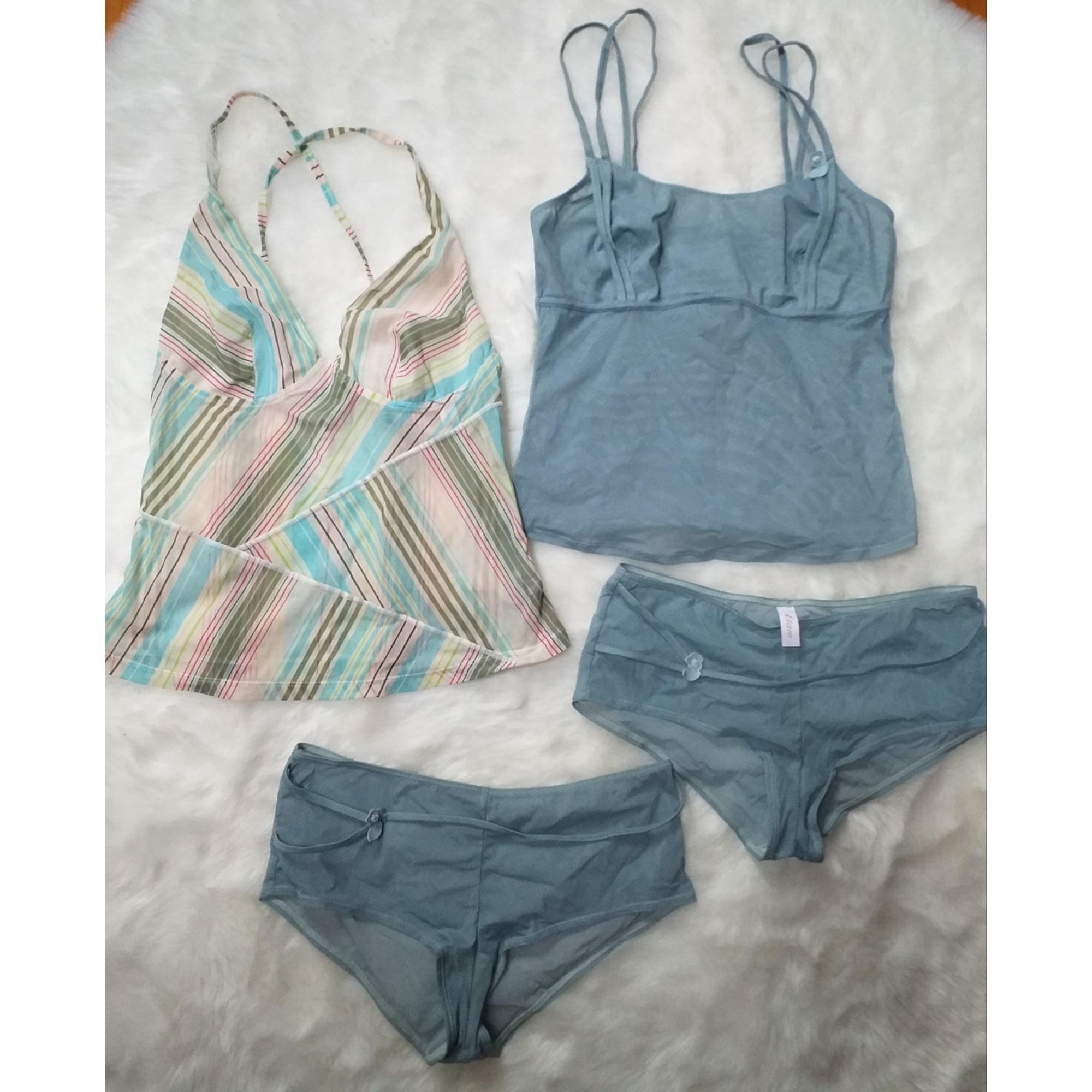 Ensemble, parure lingerie ETAM LINGERIE Bleu, bleu marine, bleu turquoise