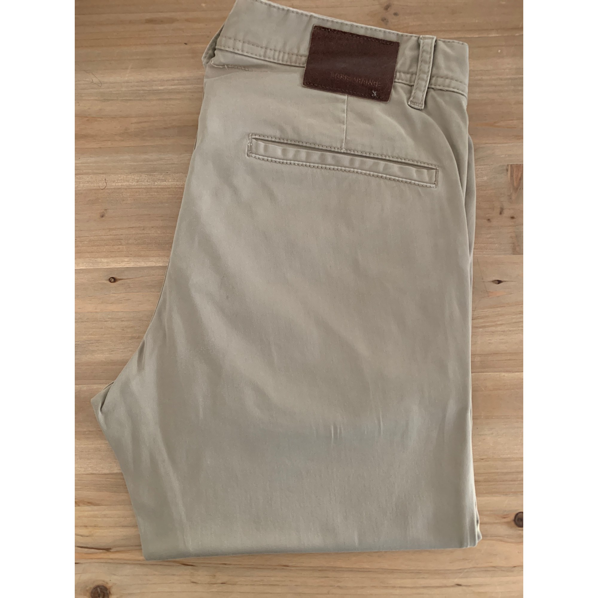 Pantalon droit HUGO BOSS Beige, camel