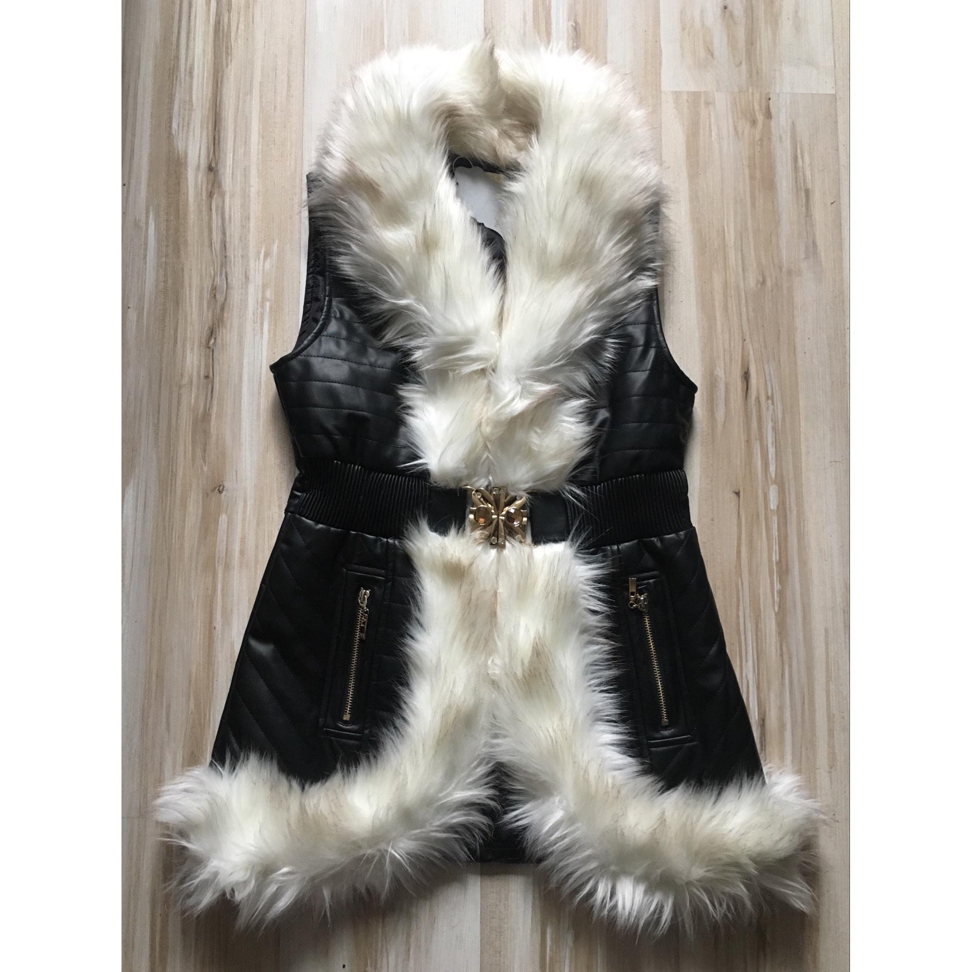Manteau en fourrure BOUTIQUE INDEPENDANTE Blanc, blanc cassé, écru