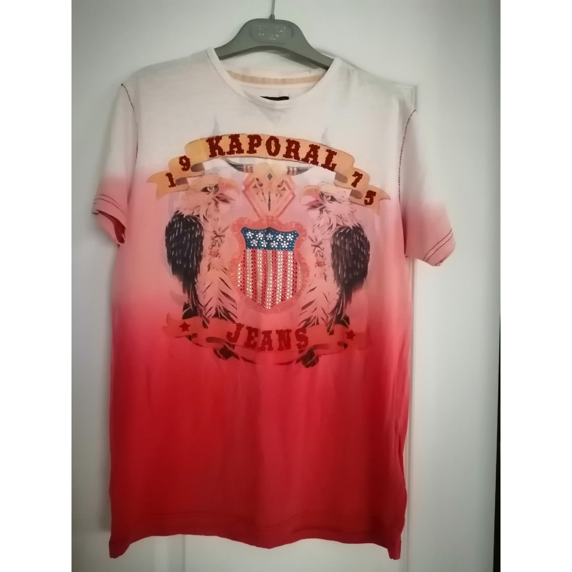 Tee-shirt KAPORAL Rouge, bordeaux