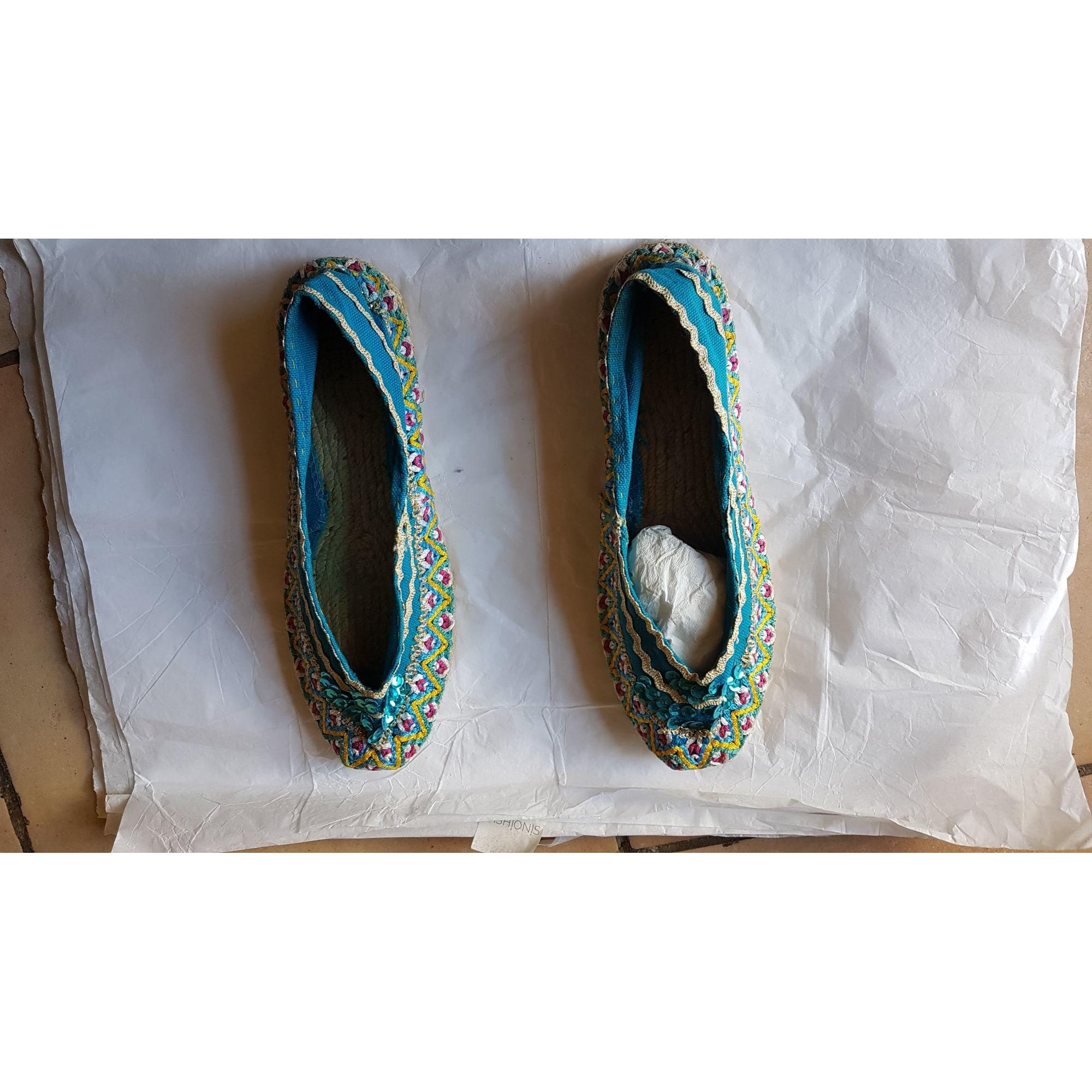 Ballerines MARQUE INCONNUE Bleu, bleu marine, bleu turquoise