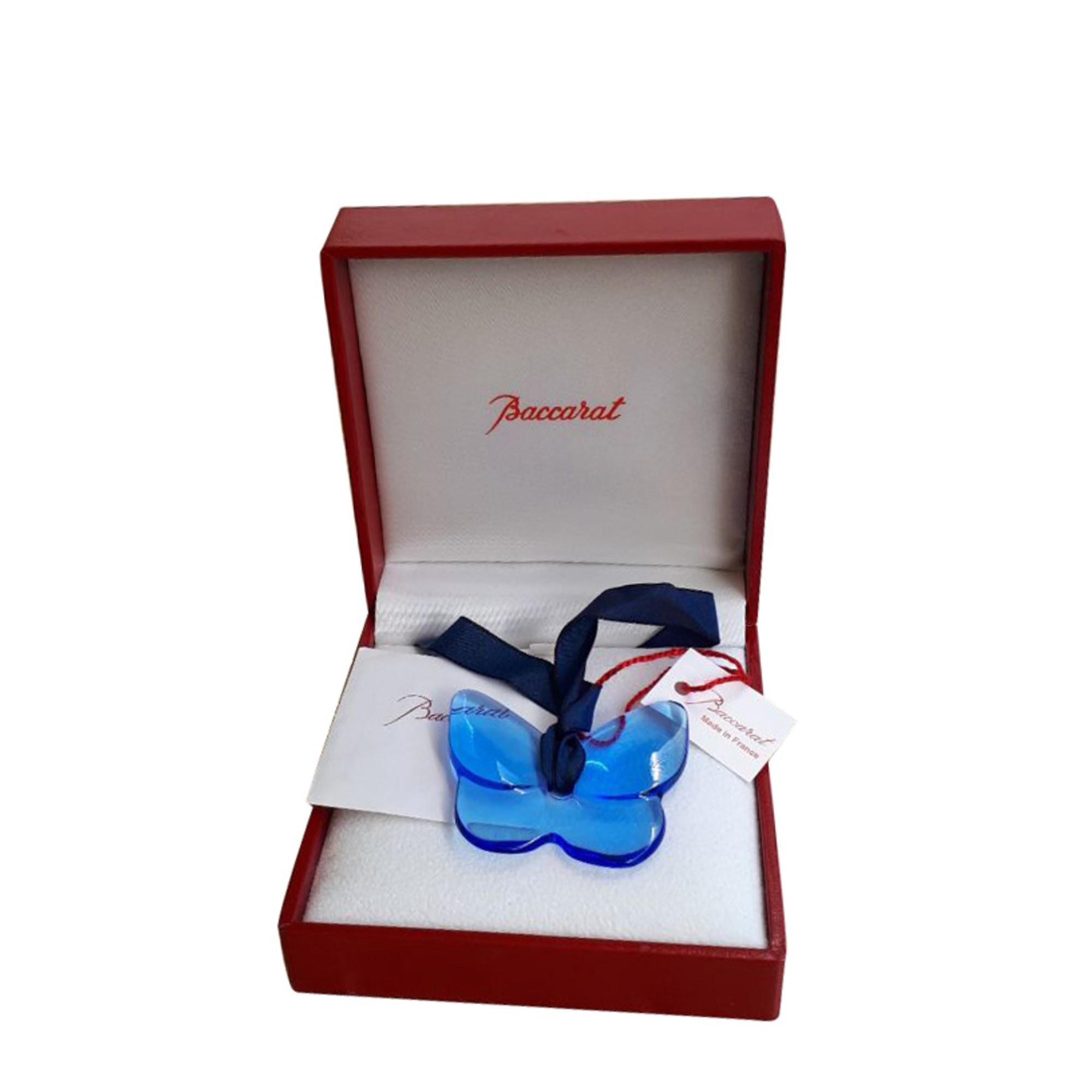 Pendentif, collier pendentif BACCARAT Bleu, bleu marine, bleu turquoise