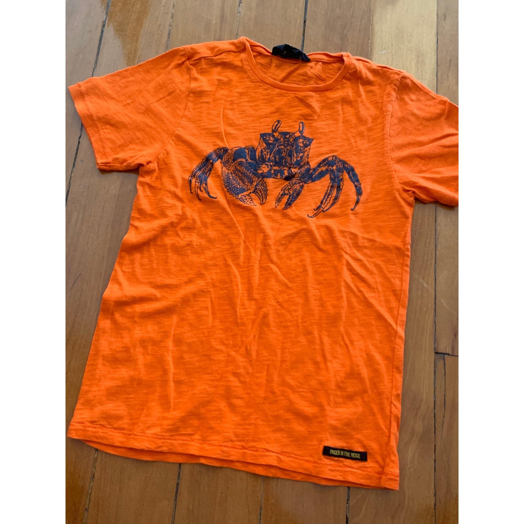 Tee-shirt FINGER IN THE NOSE Orange