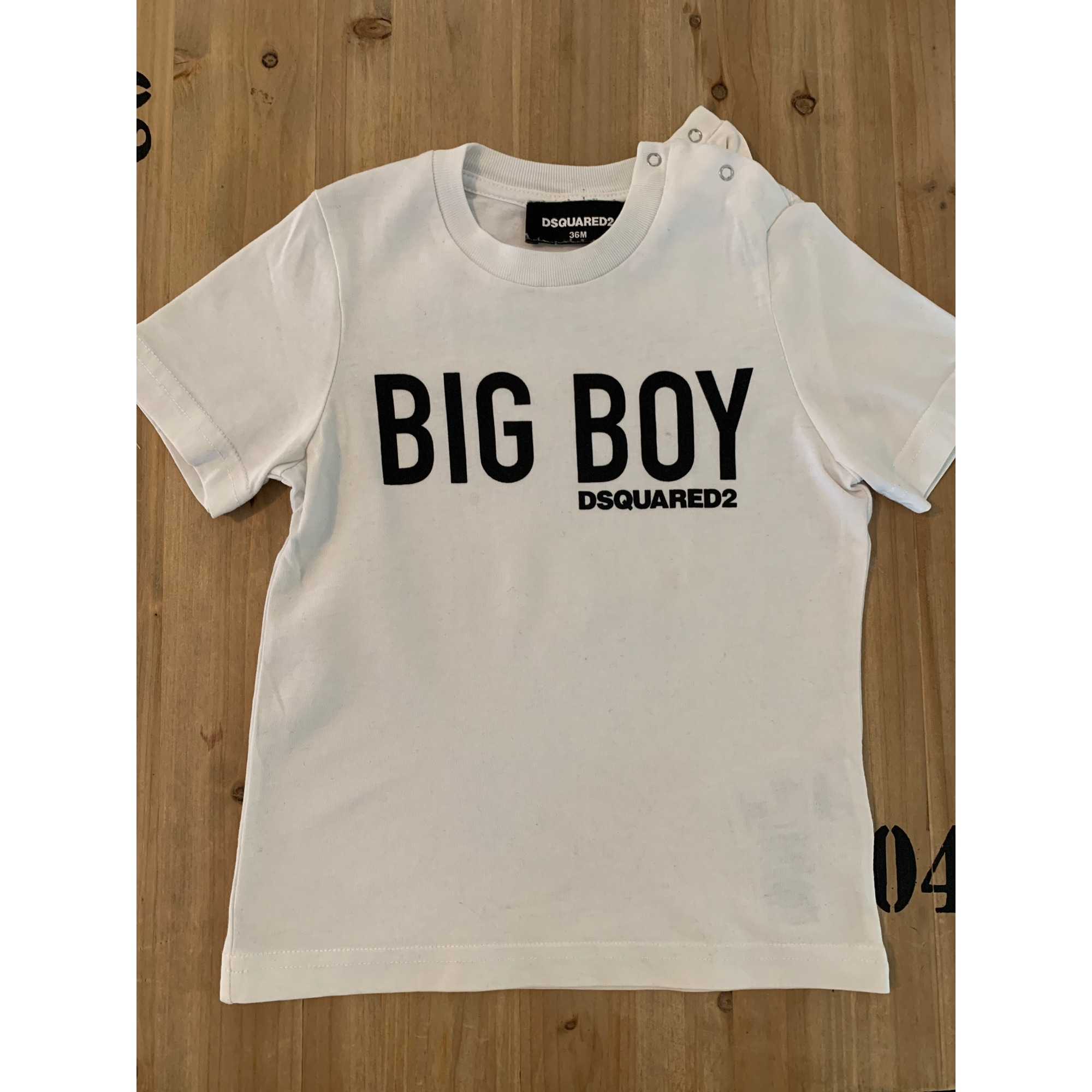 Top, tee shirt DSQUARED2 Blanc, blanc cassé, écru