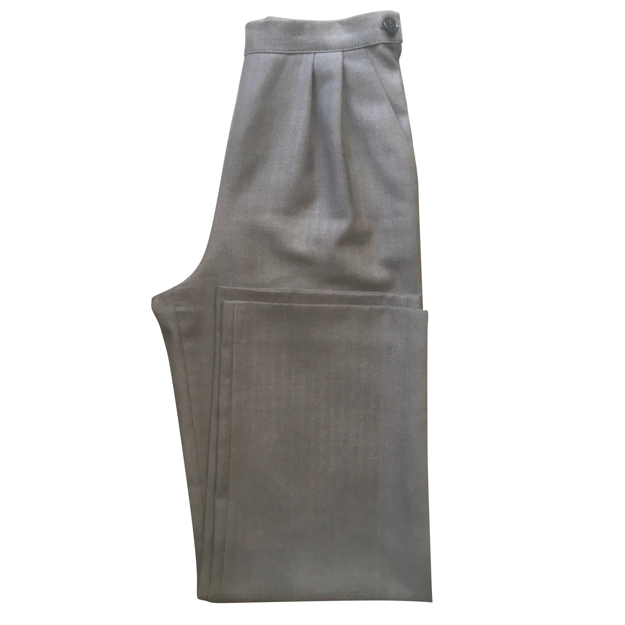 Pantalon large GIANFRANCO FERRE Gris perle