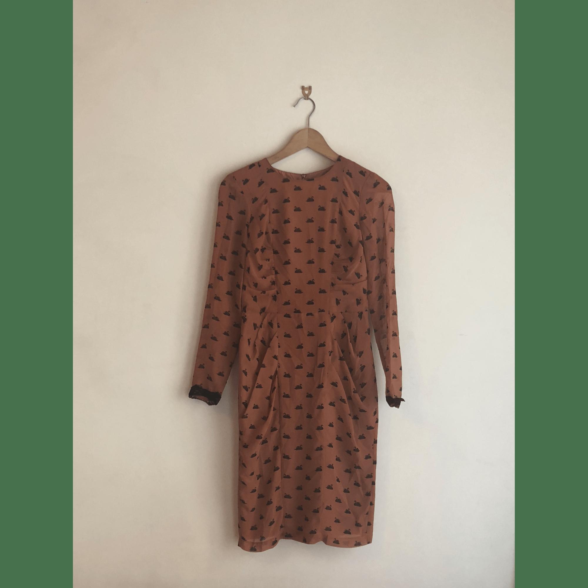 Robe mi-longue URBAN OUTFITTERS Orange