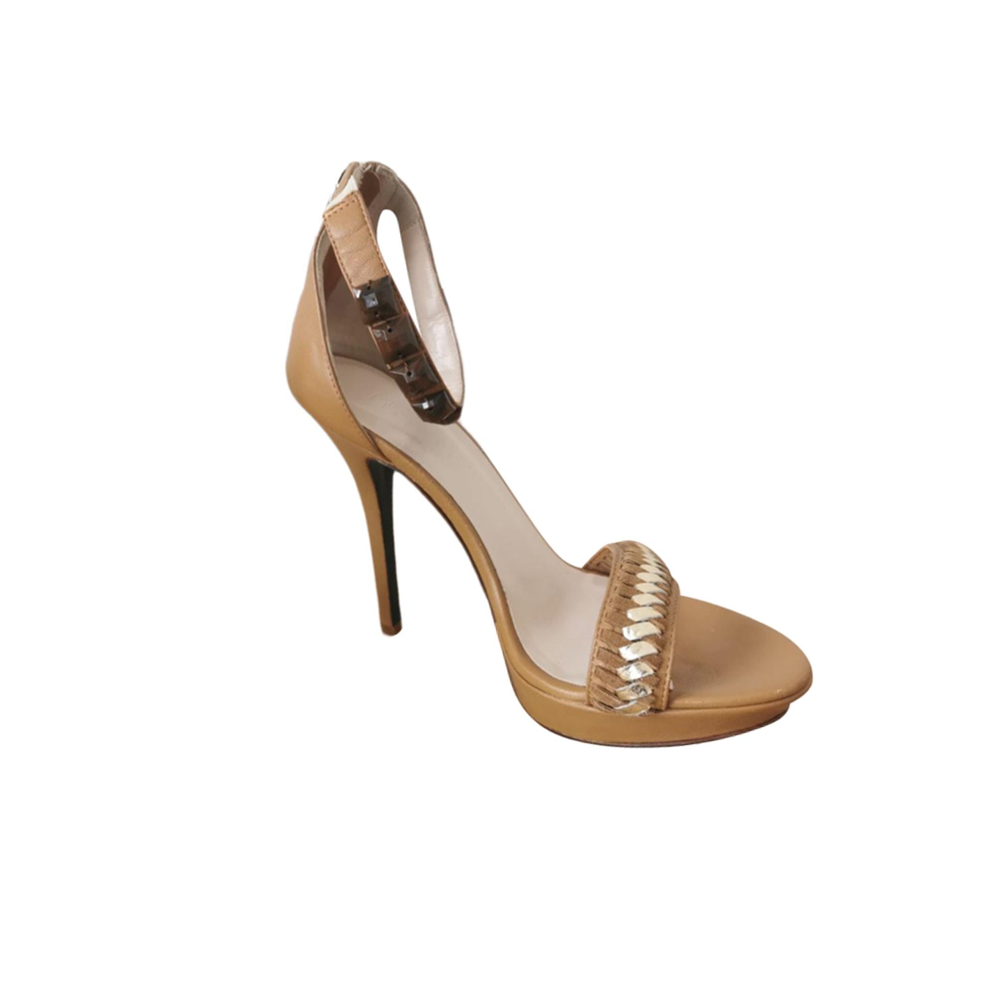 Sandales à talons PATRIZIA PEPE Beige, camel