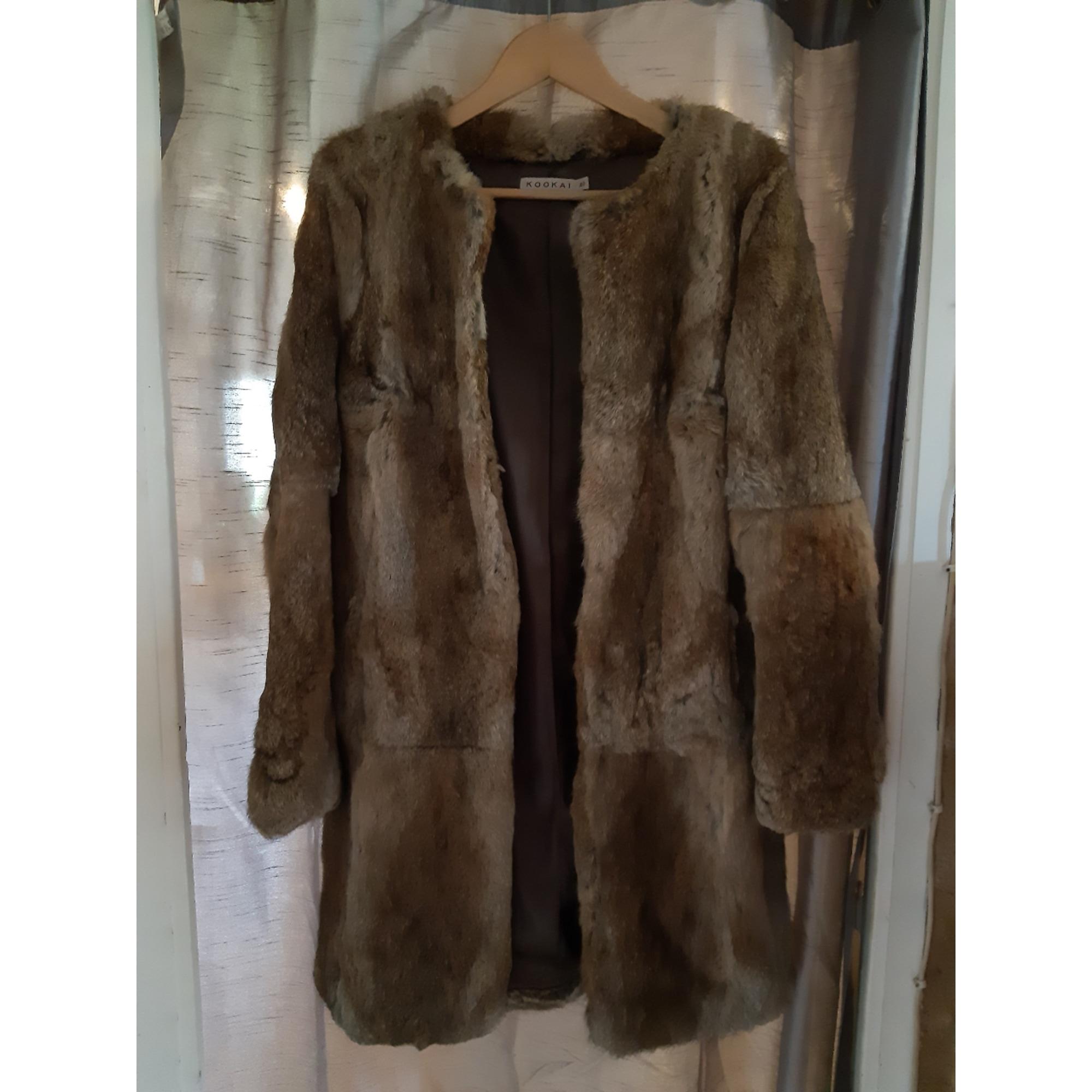 Manteau en fourrure KOOKAI Doré, bronze, cuivre