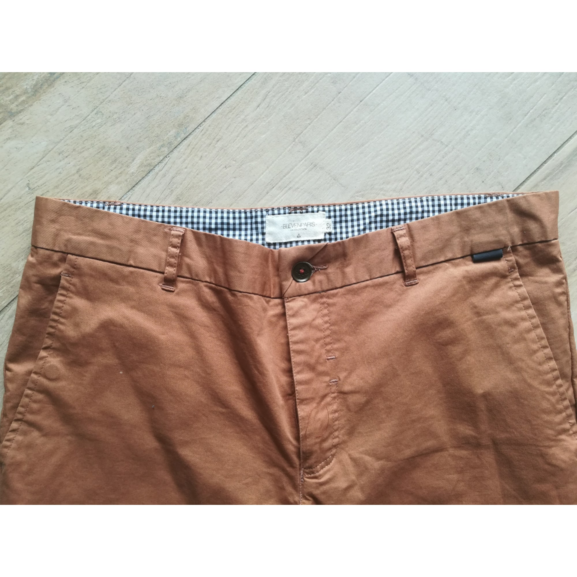 Pantalon droit ELEVEN PARIS Marron