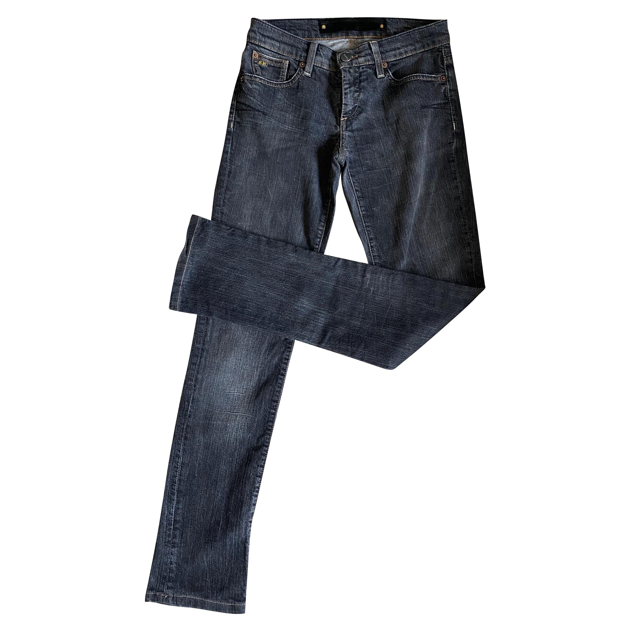 Jeans droit BARBARA BUI Gris, anthracite