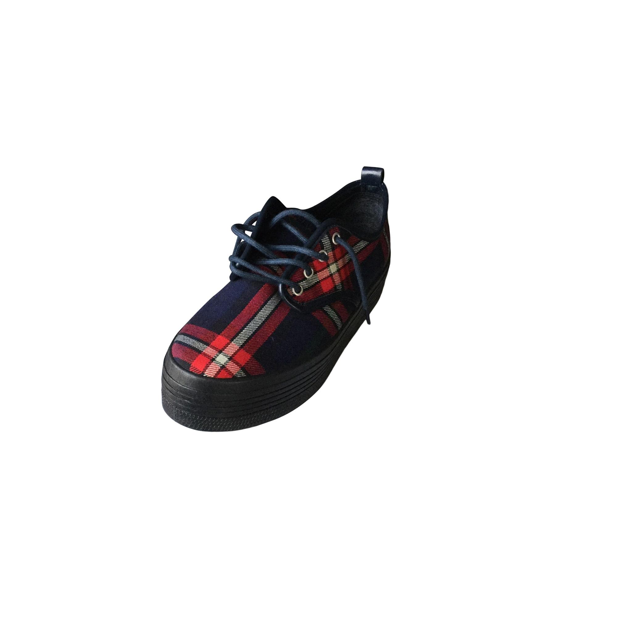 Chaussures à lacets  ELEVEN PARIS Carreaux bleu rouge
