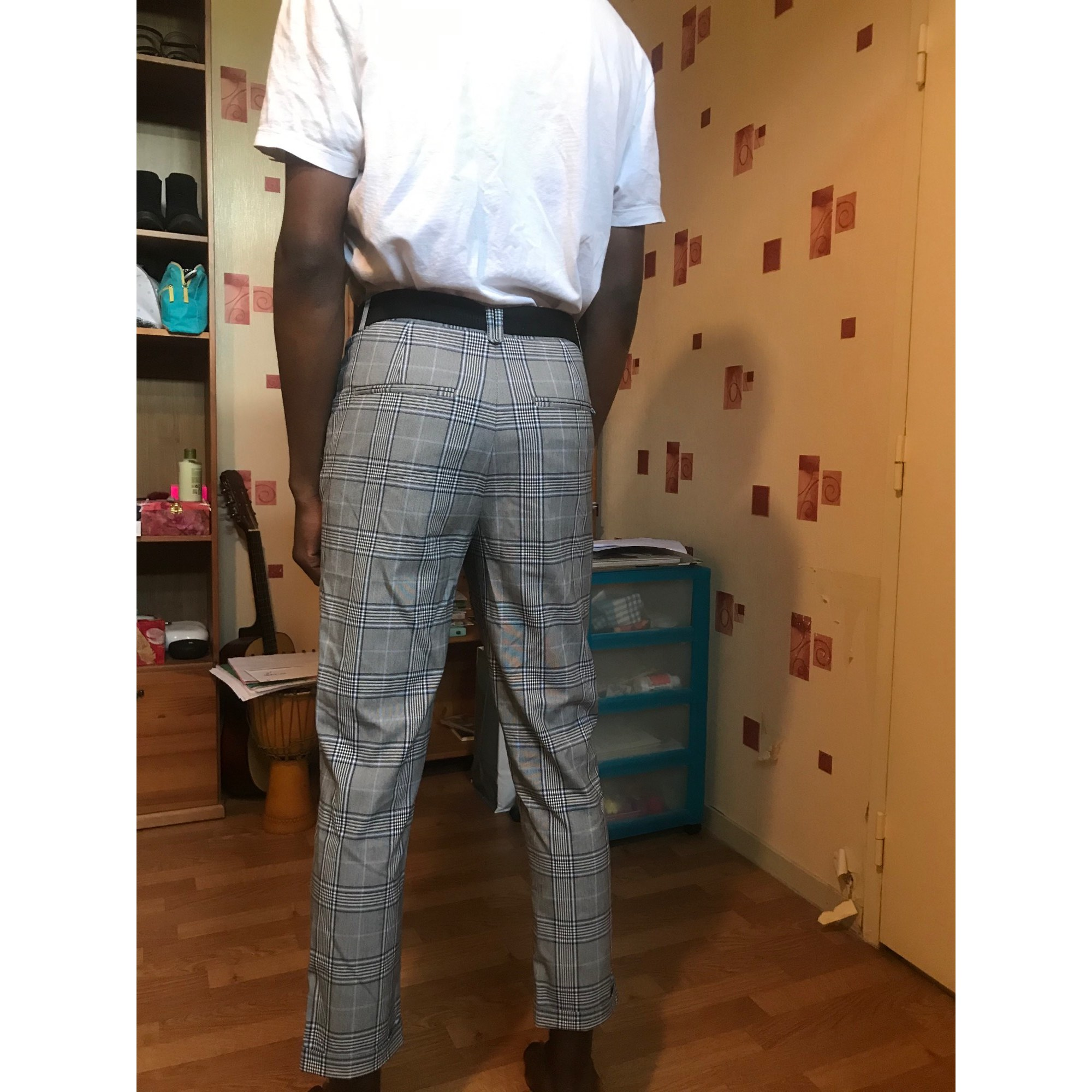 Pantalon large ZARA Multicouleur