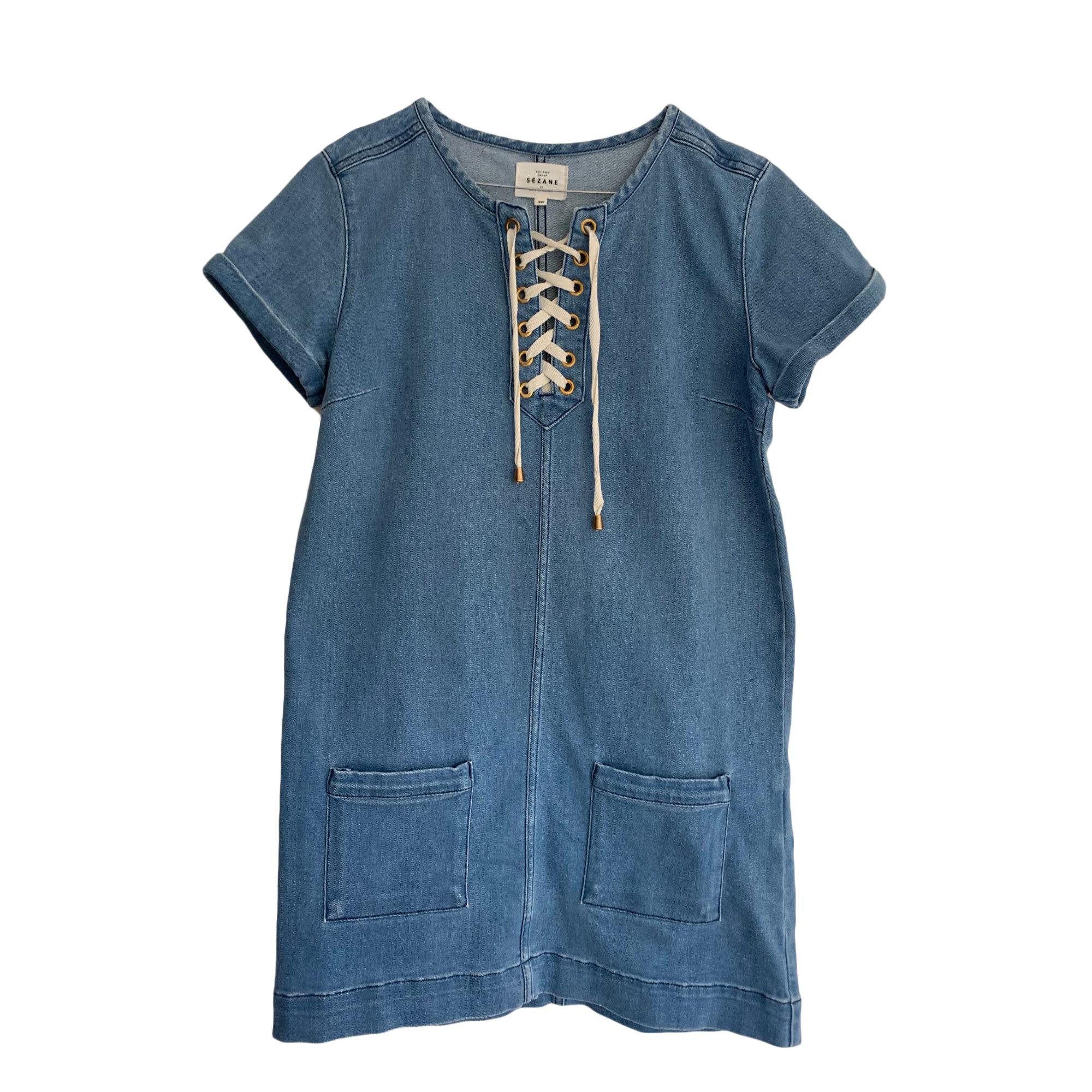 Robe courte SÉZANE Bleu, bleu marine, bleu turquoise