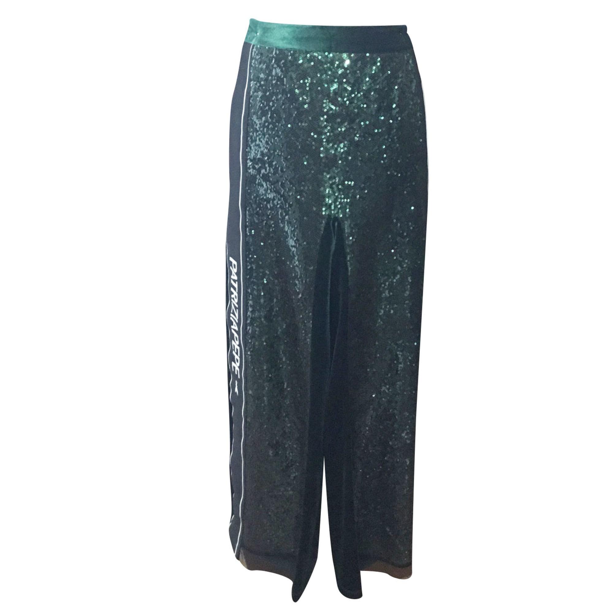 Pantalon droit PATRIZIA PEPE Vert