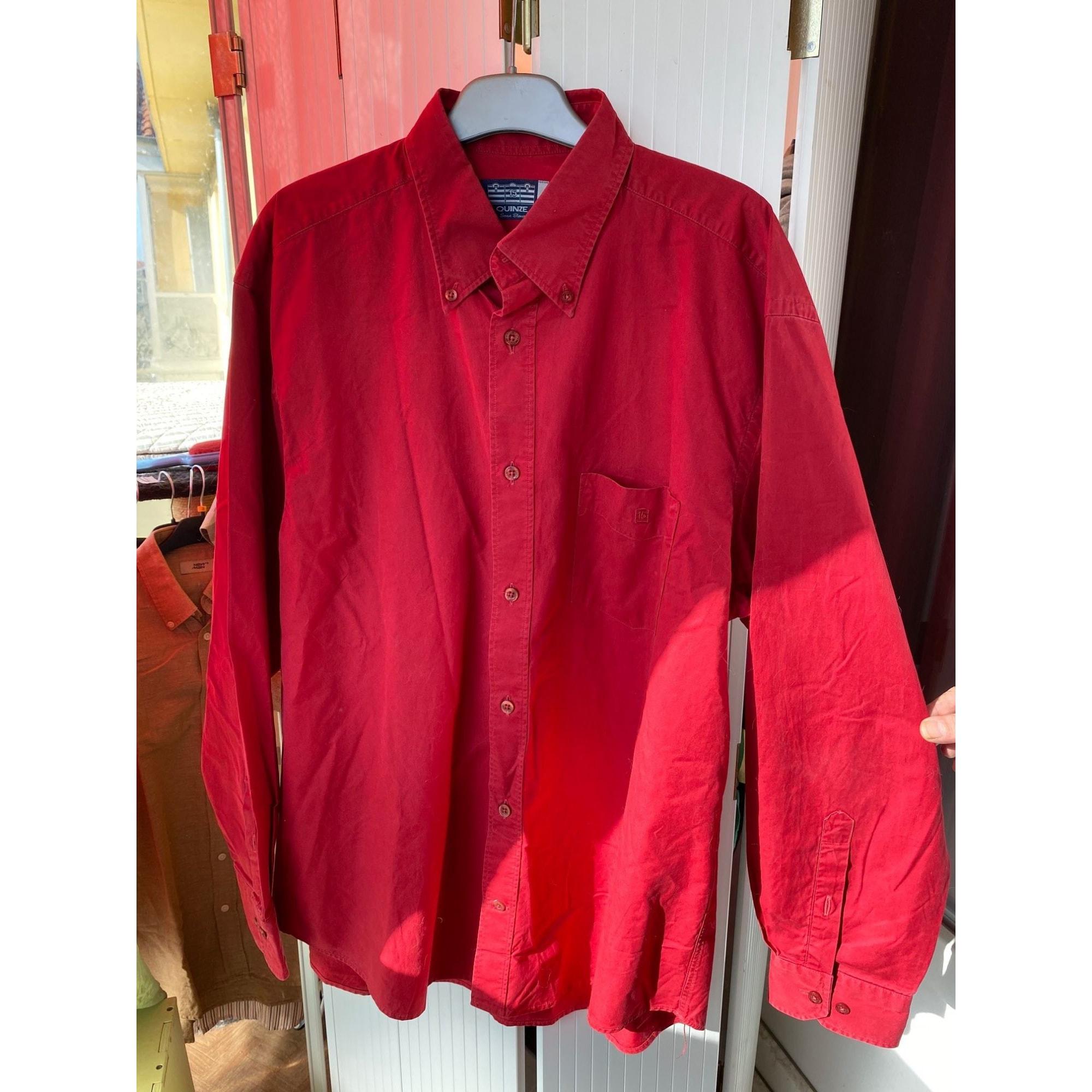 Chemise SERGE BLANCO Rouge, bordeaux